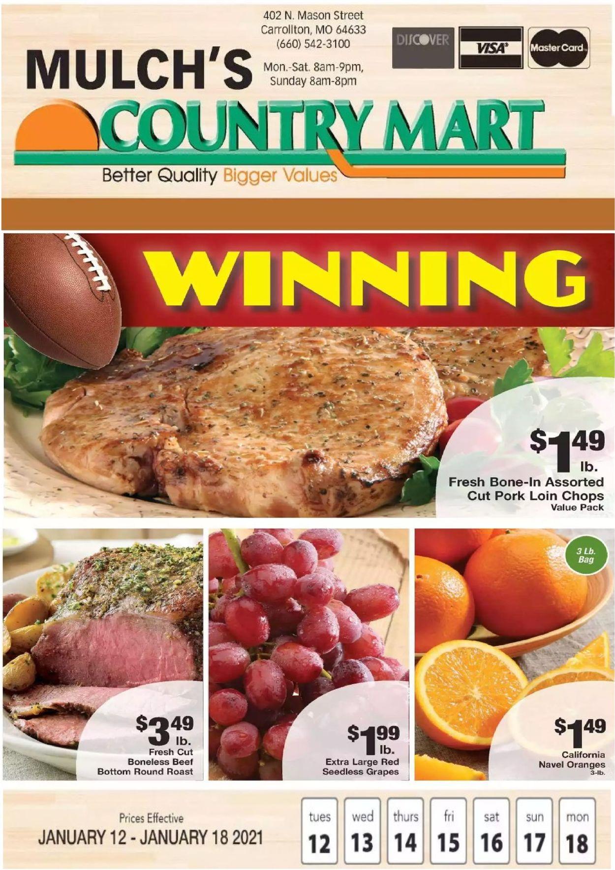 Country Mart Weekly Ad Circular - valid 01/12-01/18/2021