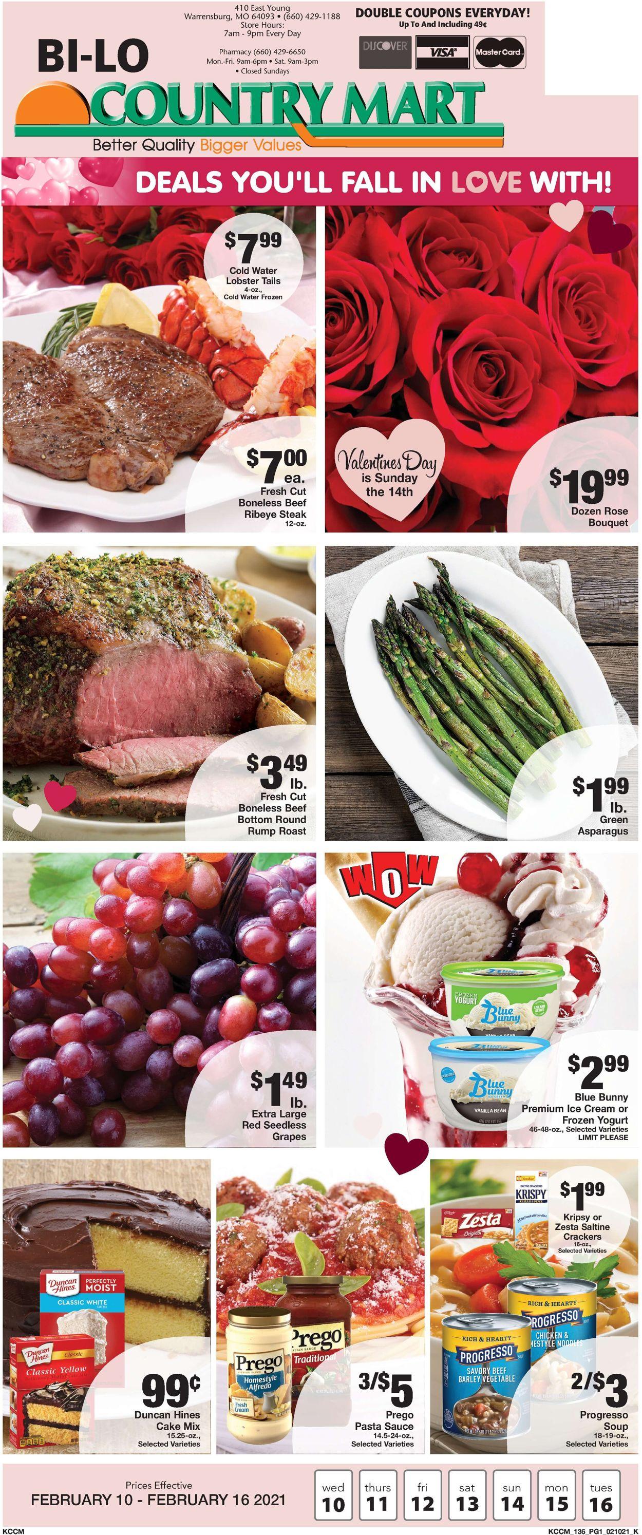Country Mart Weekly Ad Circular - valid 02/10-02/16/2021
