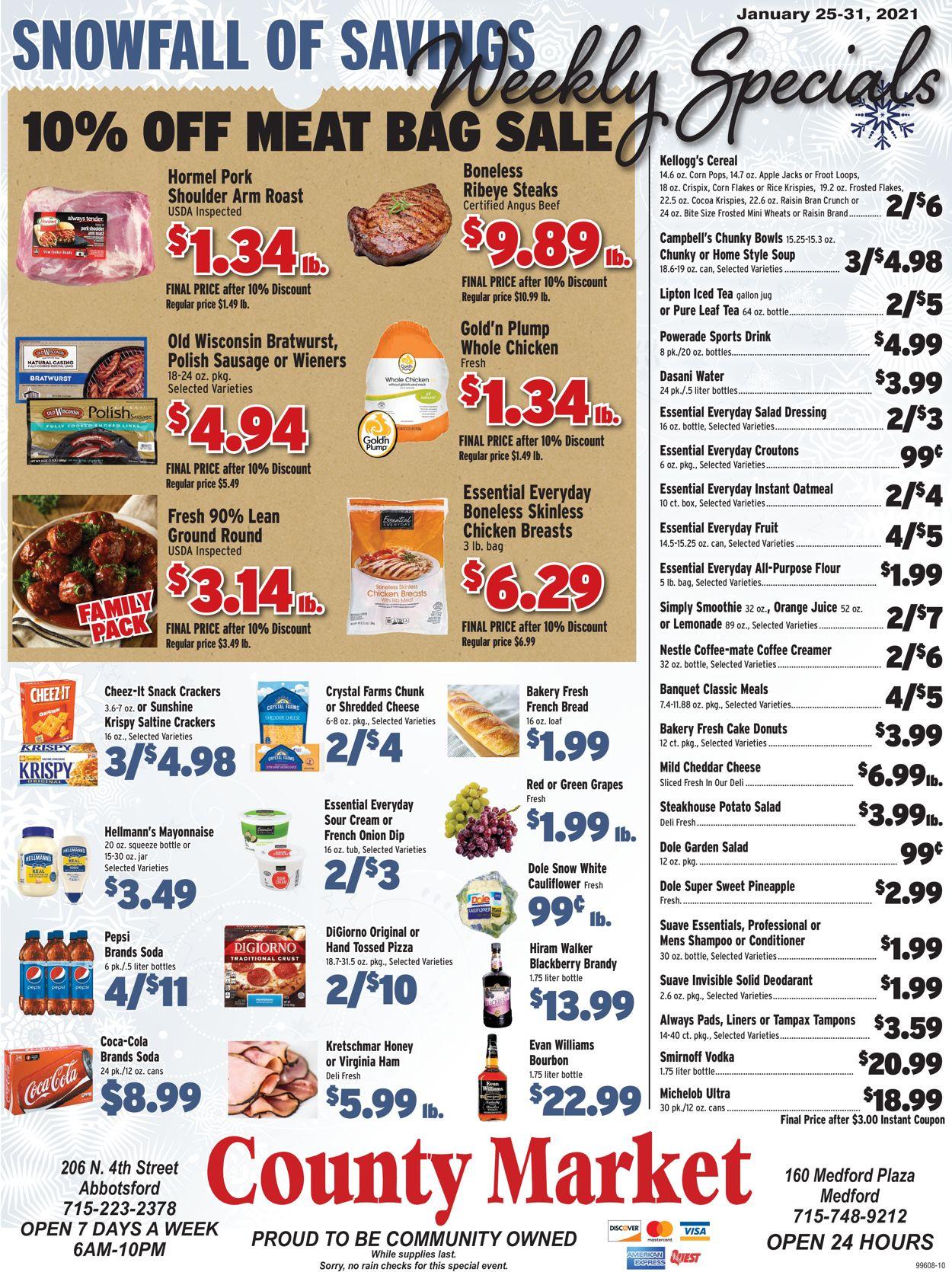 County Market Weekly Ad Circular - valid 01/25-01/31/2021