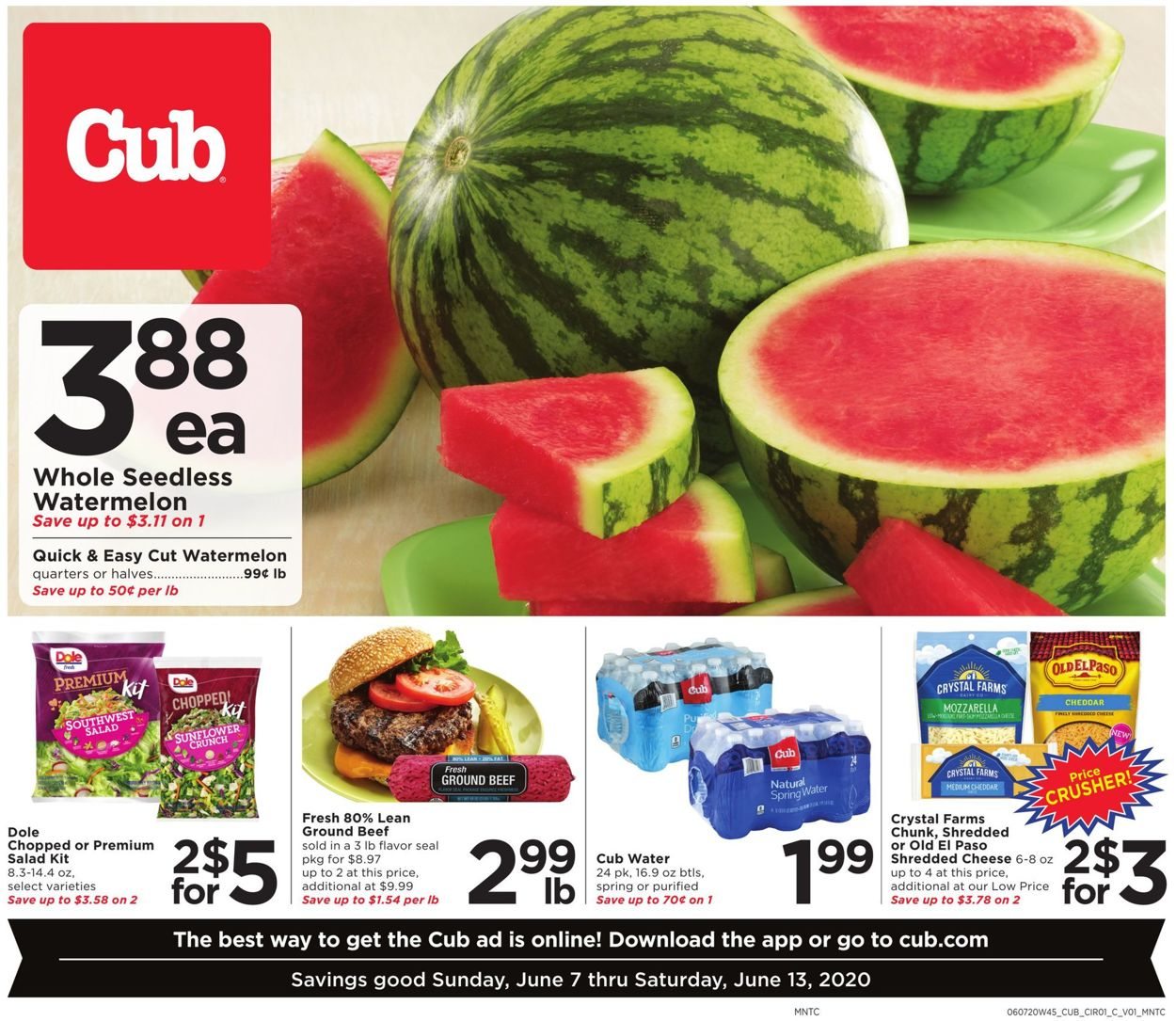 Cub Foods Weekly Ad Circular - valid 06/07-06/13/2020