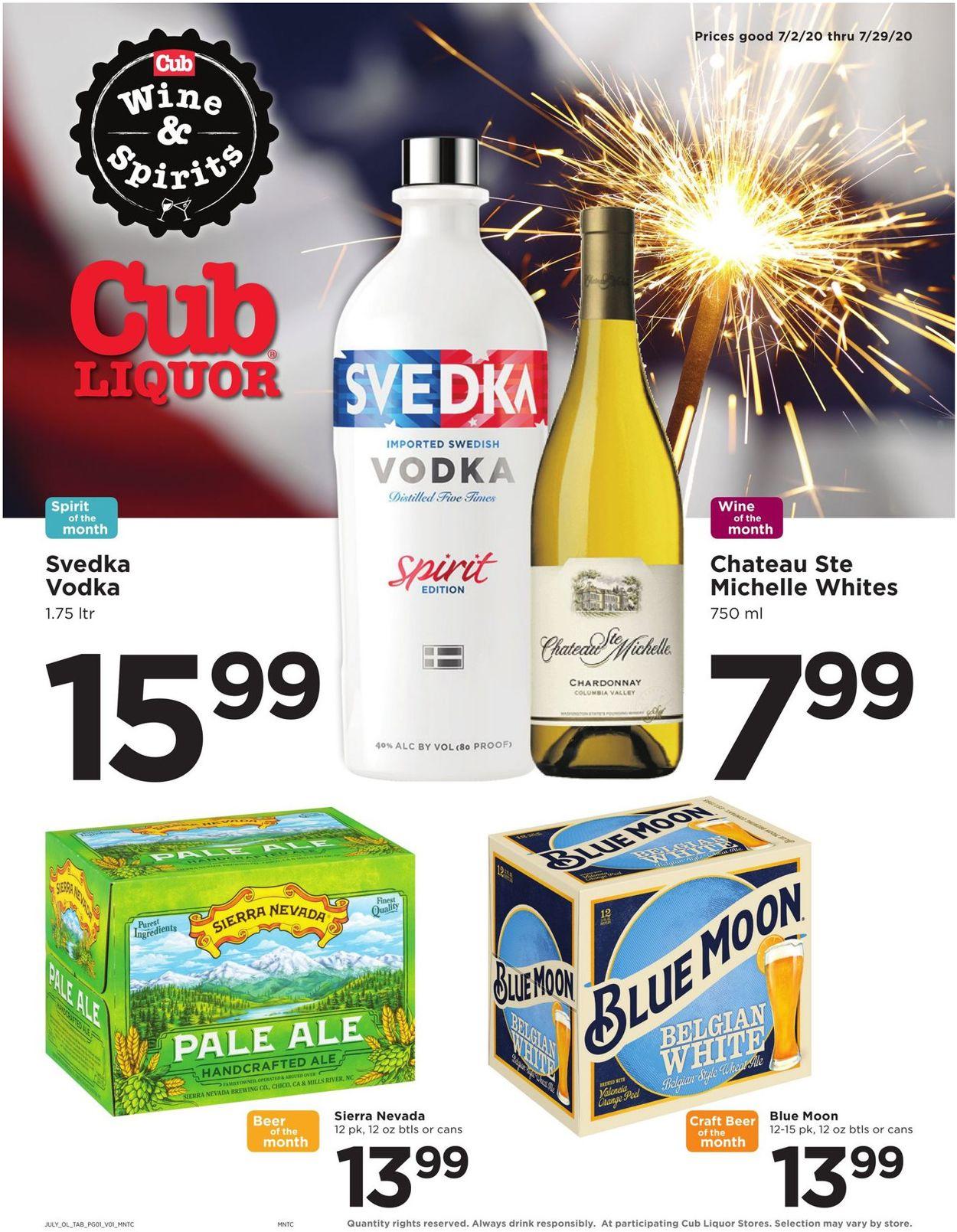 Cub Foods Weekly Ad Circular - valid 07/02-07/29/2020