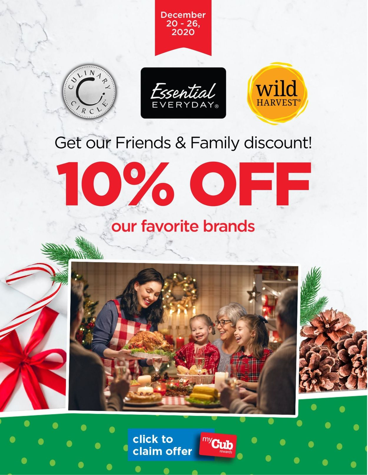 Cub Foods Friends & Family Weekly Ad Circular - valid 12/20-12/26/2020
