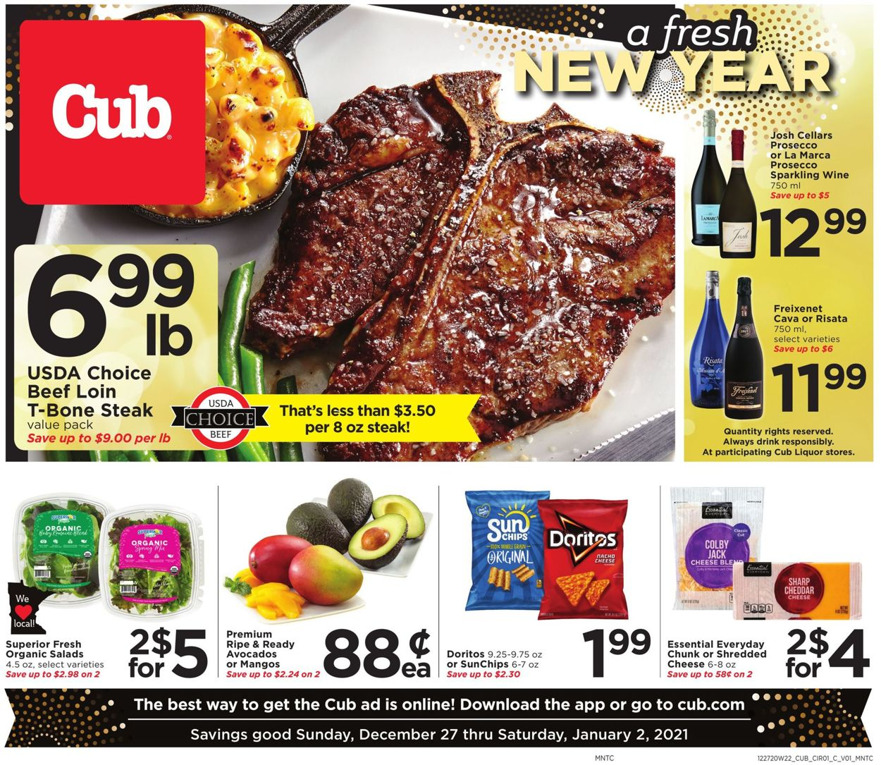 Cub Foods Grocery Savings Weekly Ad Circular - valid 12/27-01/02/2021