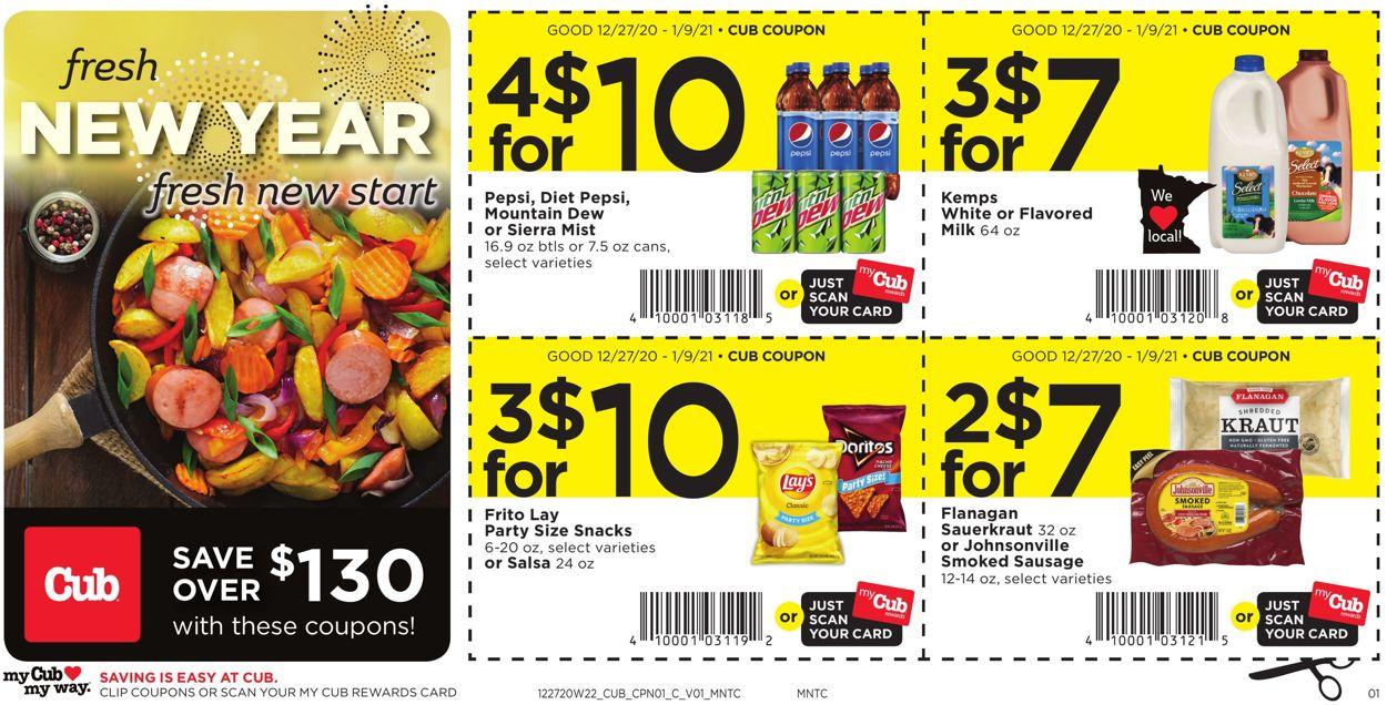 Cub Foods Coupon Savings Weekly Ad Circular - valid 12/27-01/09/2021