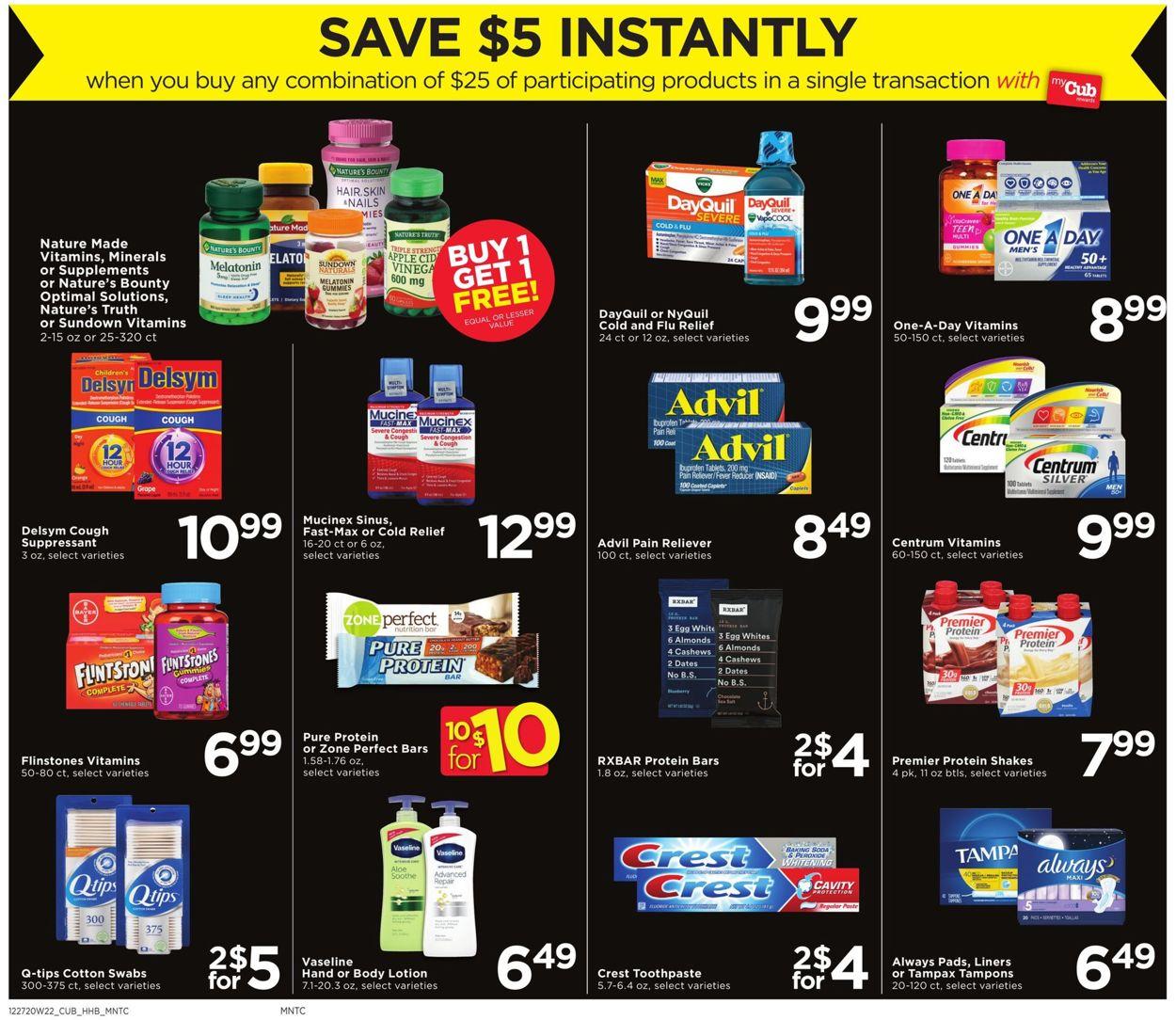 Cub Foods SAVE $5 INSTANTLY Weekly Ad Circular - valid 12/27-01/02/2021