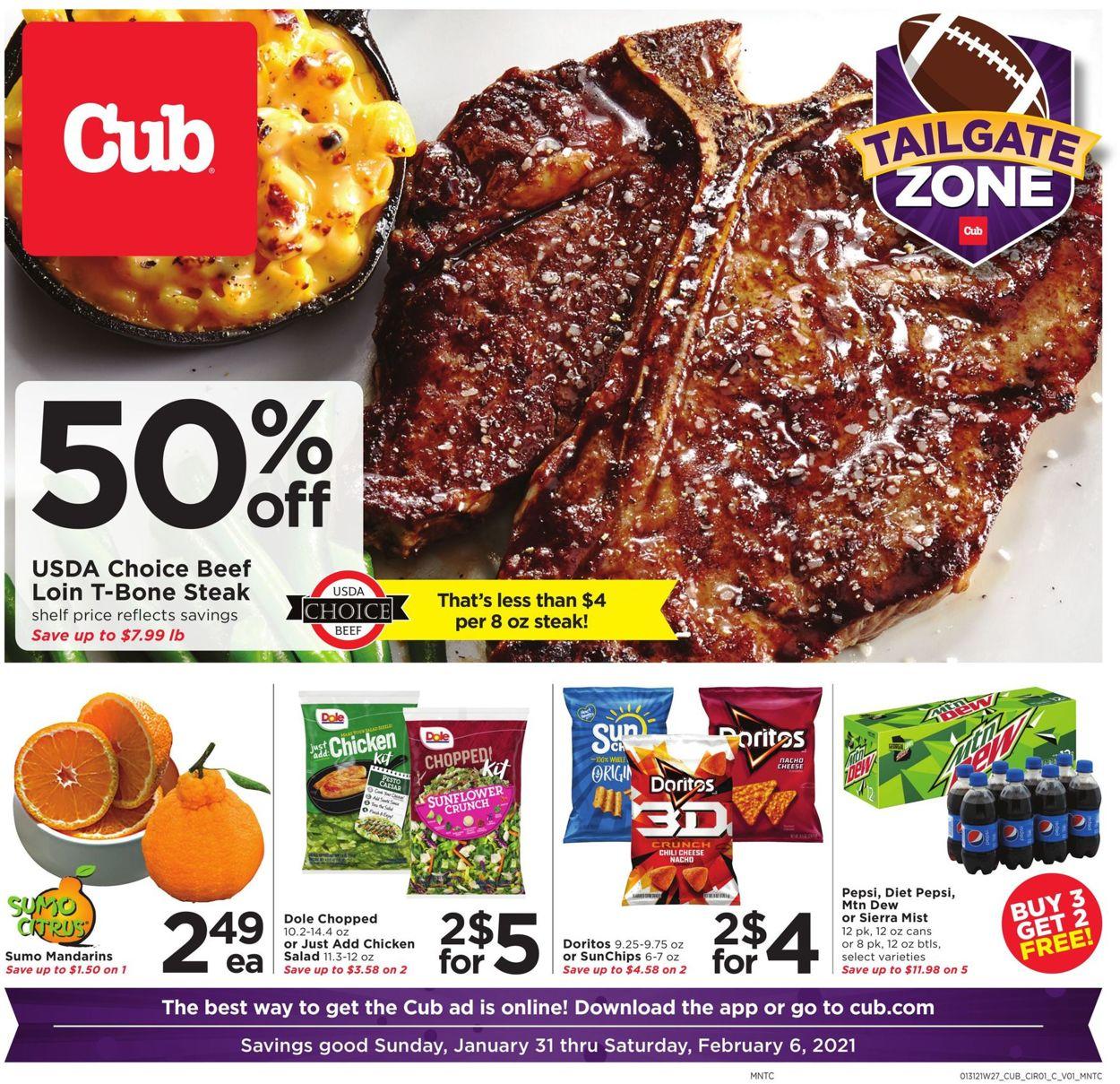 Cub Foods Weekly Ad Circular - valid 01/31-02/06/2021