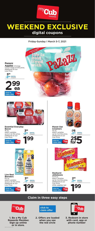 Cub Foods Weekly Ad Circular - valid 03/05-03/07/2021
