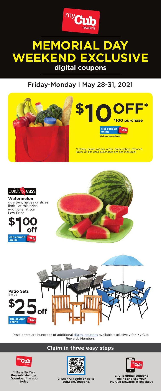 Cub Foods Weekly Ad Circular - valid 05/28-05/31/2021