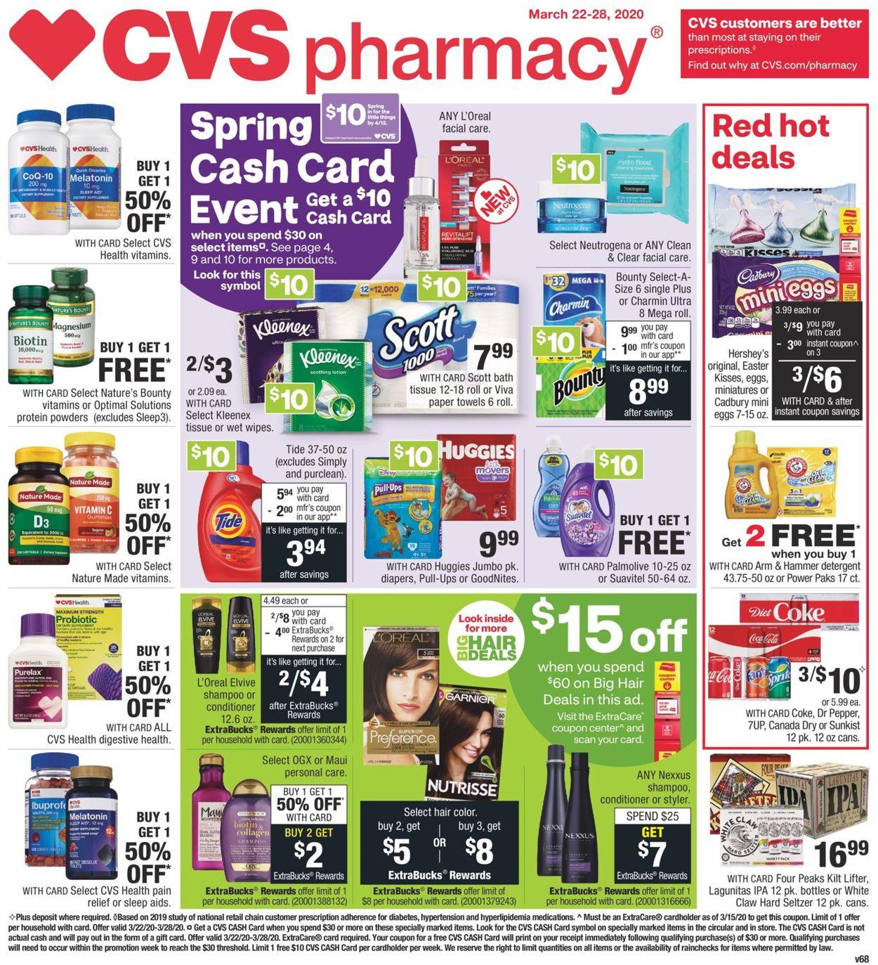 CVS Pharmacy Weekly Ad Circular - valid 03/22-03/28/2020