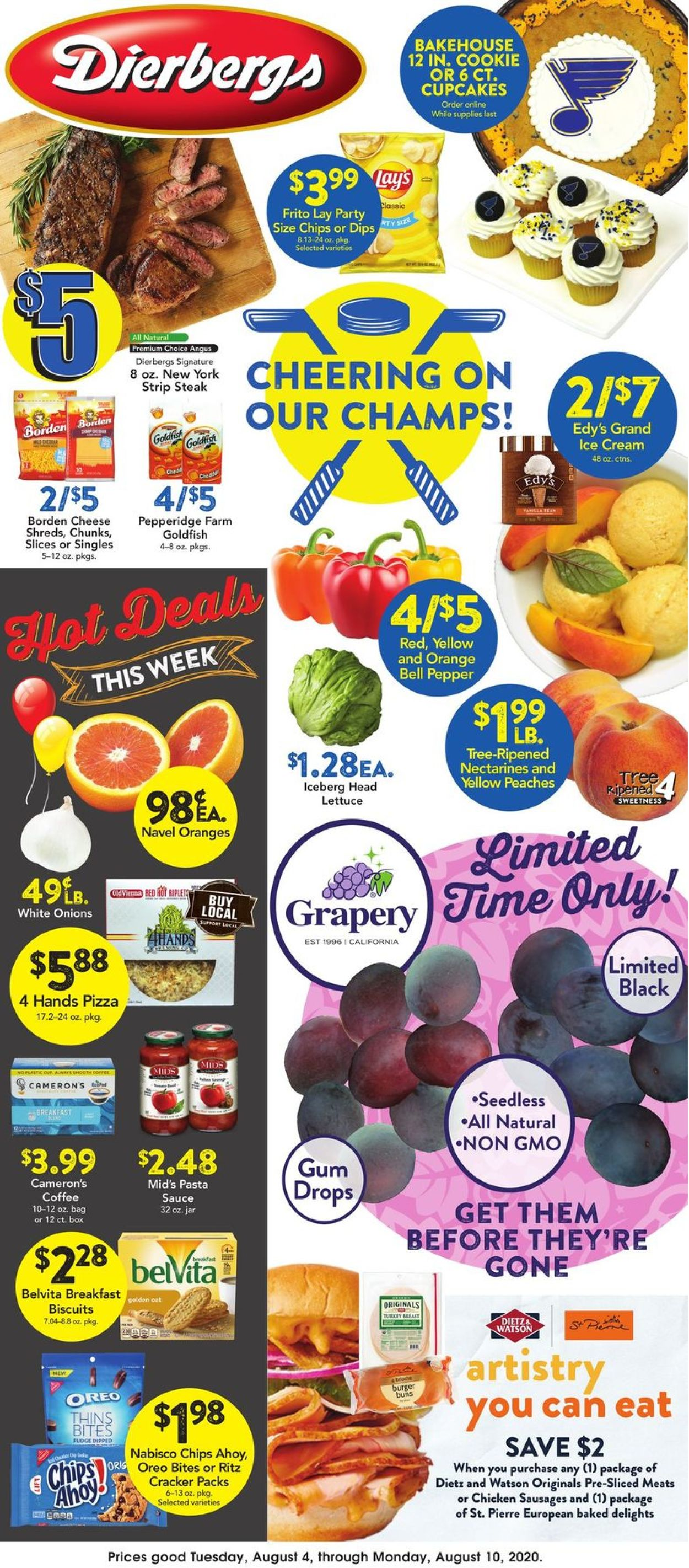 Dierbergs Weekly Ad Circular - valid 08/04-08/10/2020