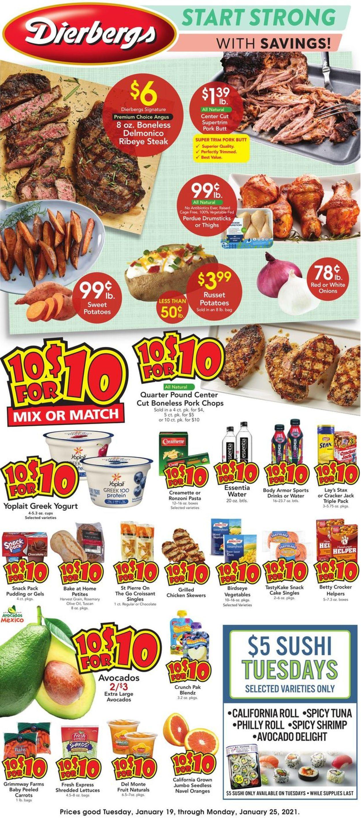 Dierbergs Weekly Ad Circular - valid 01/19-01/25/2021
