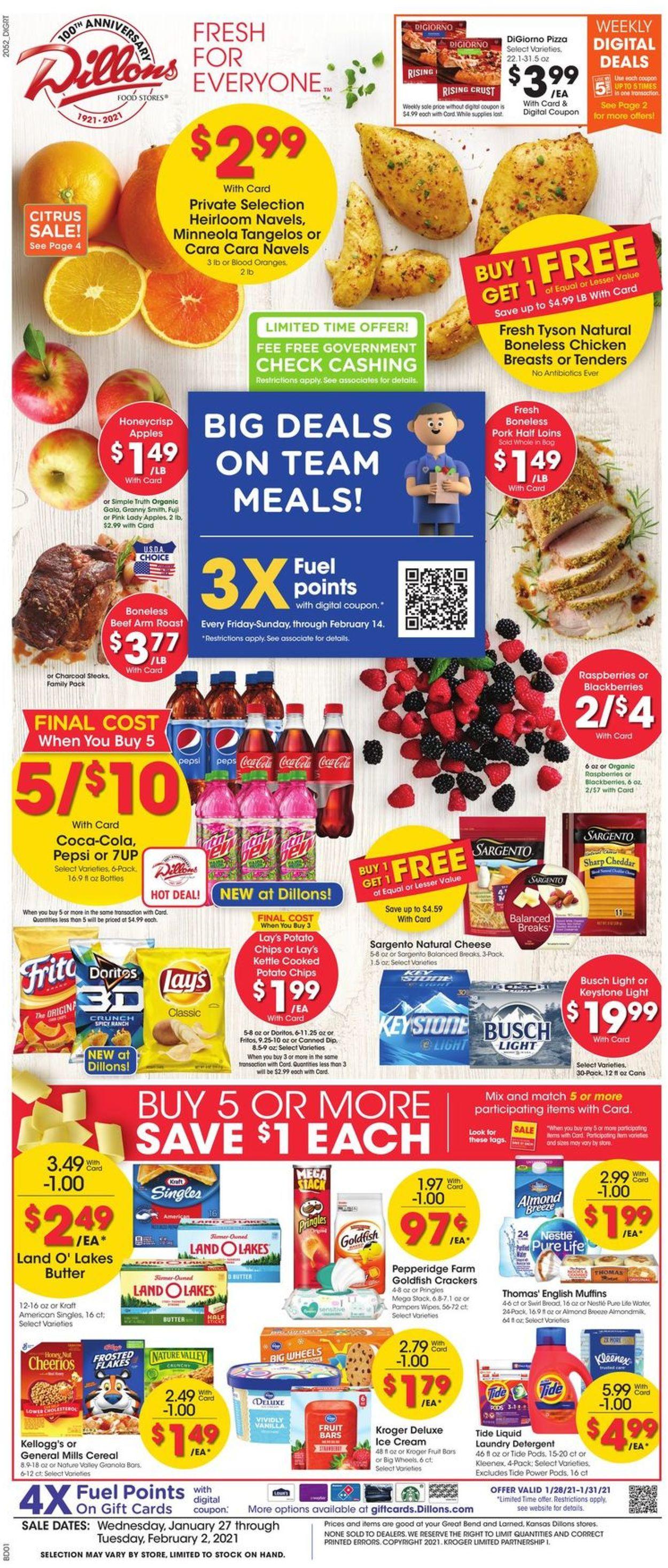 Dillons Weekly Ad Circular - valid 01/27-02/02/2021
