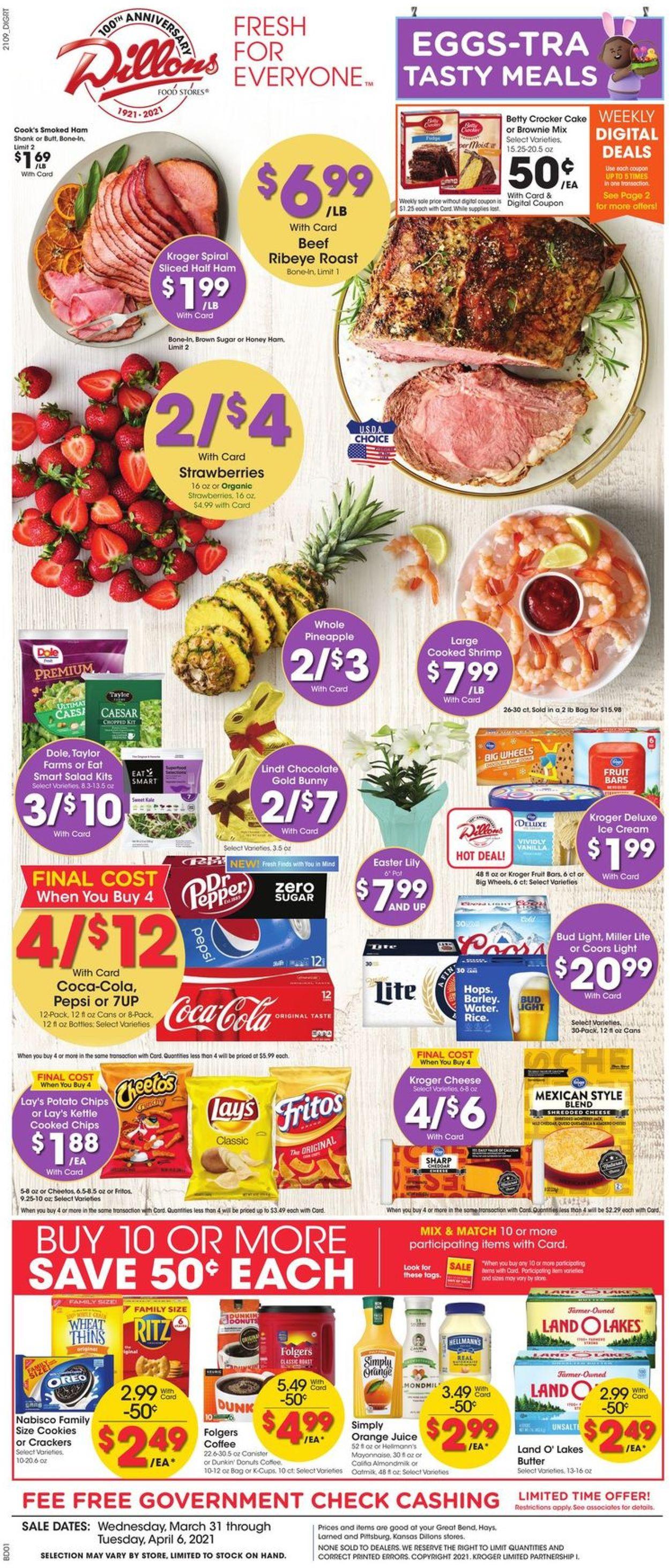 Dillons - Easter 2021 Weekly Ad Circular - valid 03/31-04/06/2021
