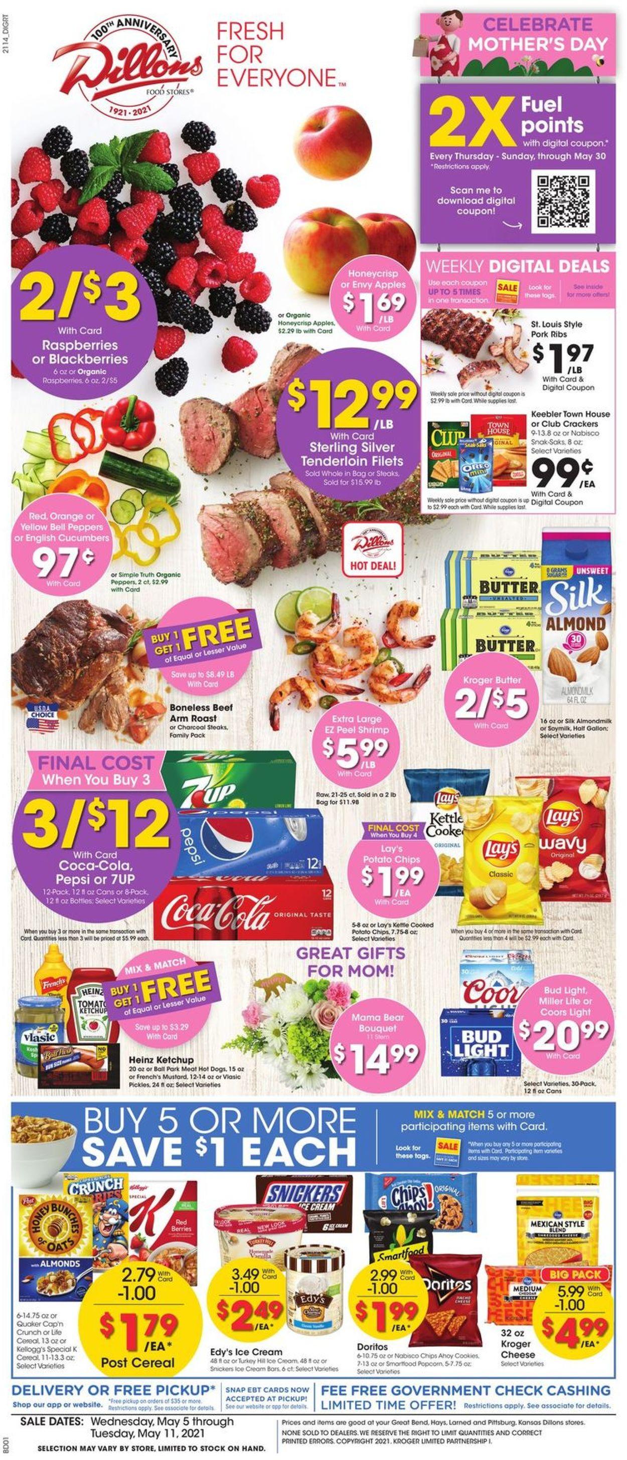 Dillons Weekly Ad Circular - valid 05/05-05/11/2021