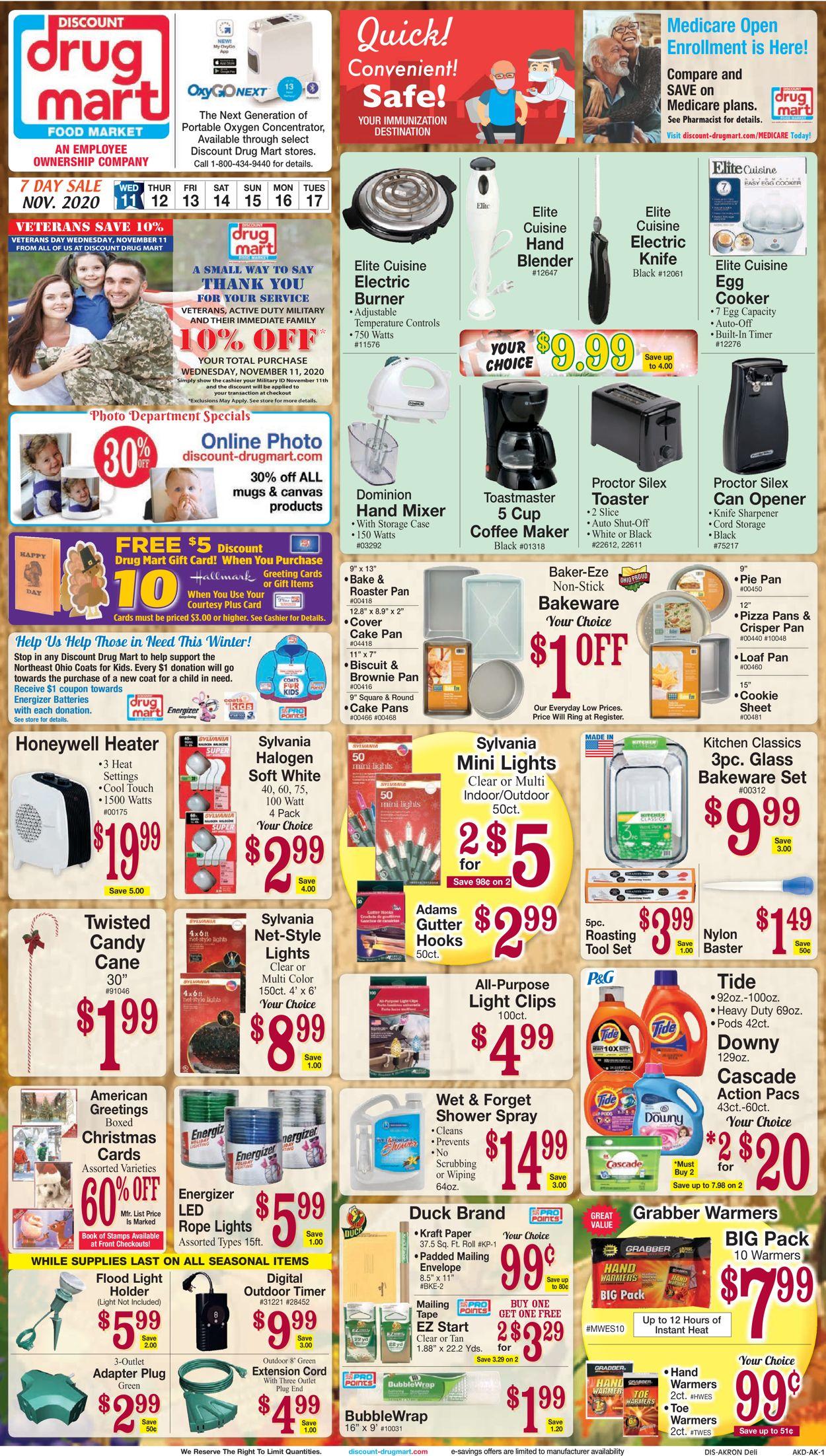 Discount Drug Mart Ad Circular 11 11 11 17 2020 Page 4 Rabato