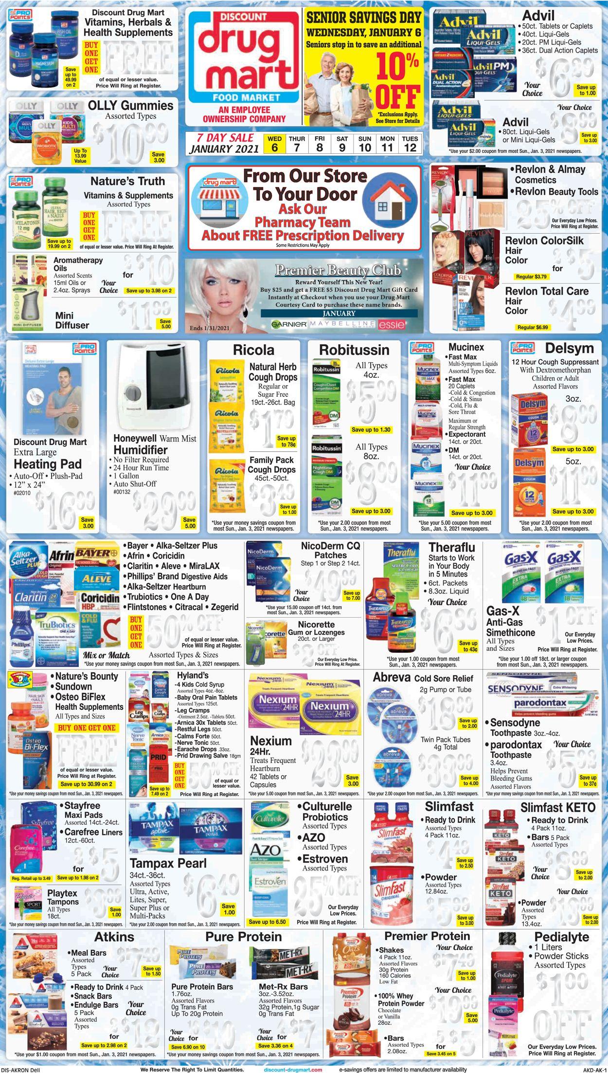 Discount Drug Mart Weekly Ad Circular - valid 01/06-01/12/2021