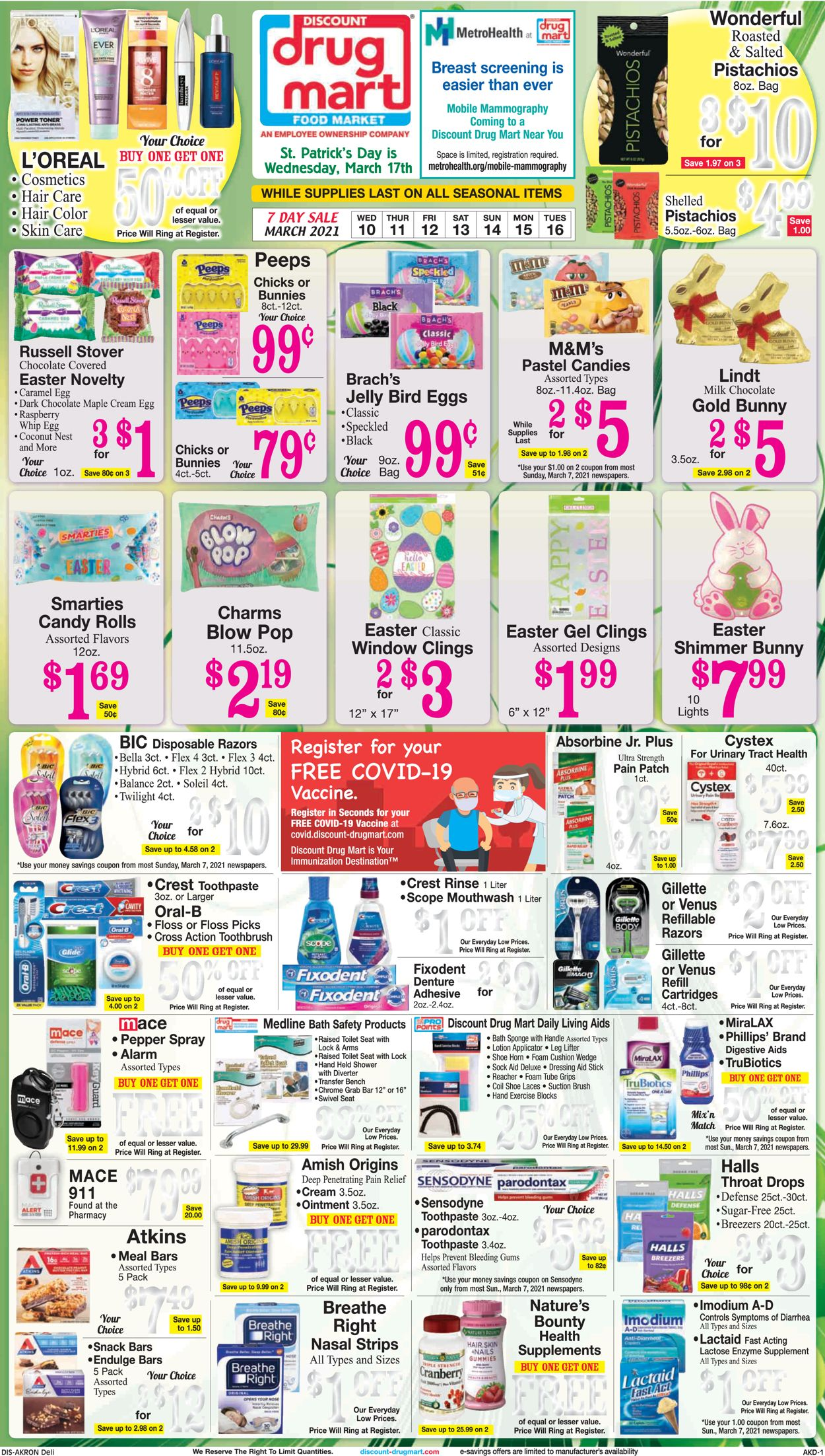 Discount Drug Mart Weekly Ad Circular - valid 03/10-03/16/2021