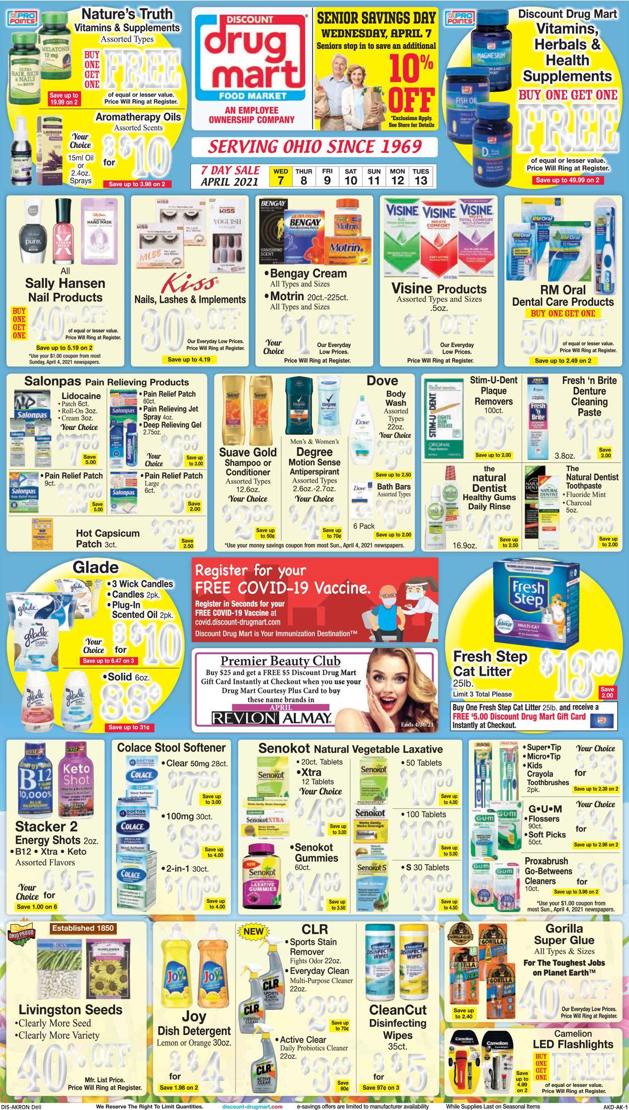 Discount Drug Mart Weekly Ad Circular - valid 04/07-04/13/2021