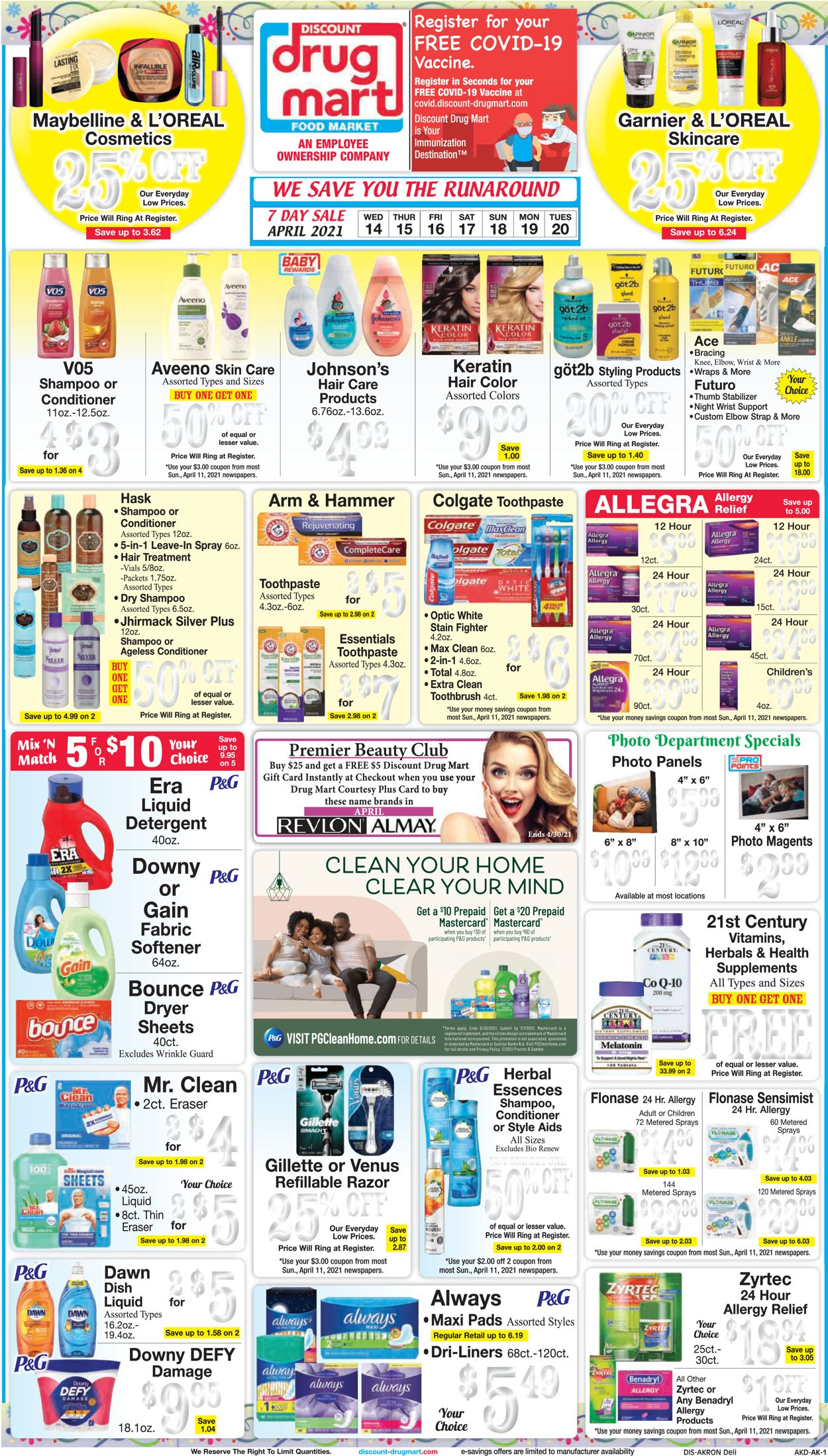 Discount Drug Mart Weekly Ad Circular - valid 04/14-04/20/2021