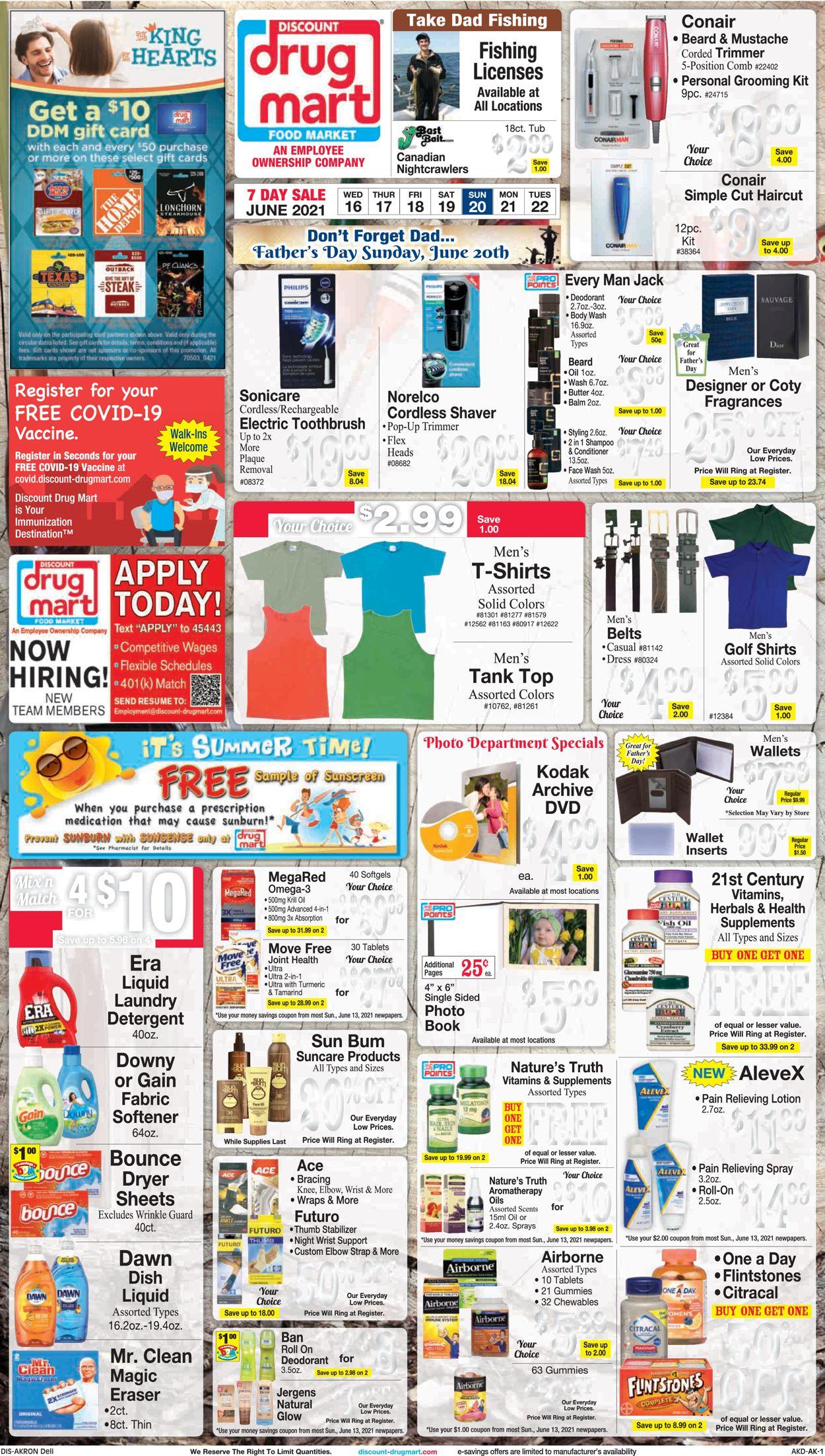Discount Drug Mart Weekly Ad Circular - valid 06/16-06/22/2021