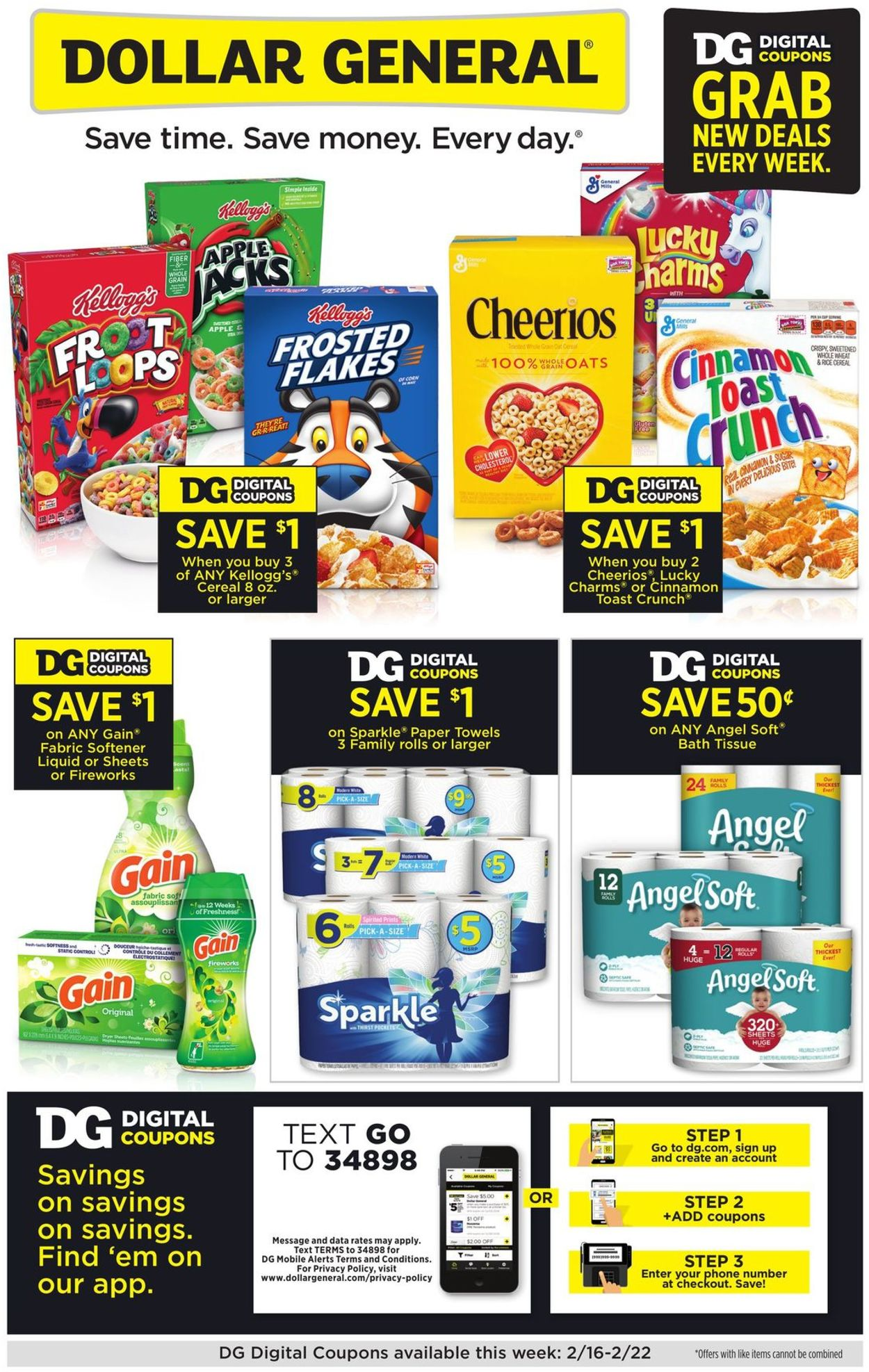 Dollar General Weekly Ad Circular - valid 02/16-02/22/2020