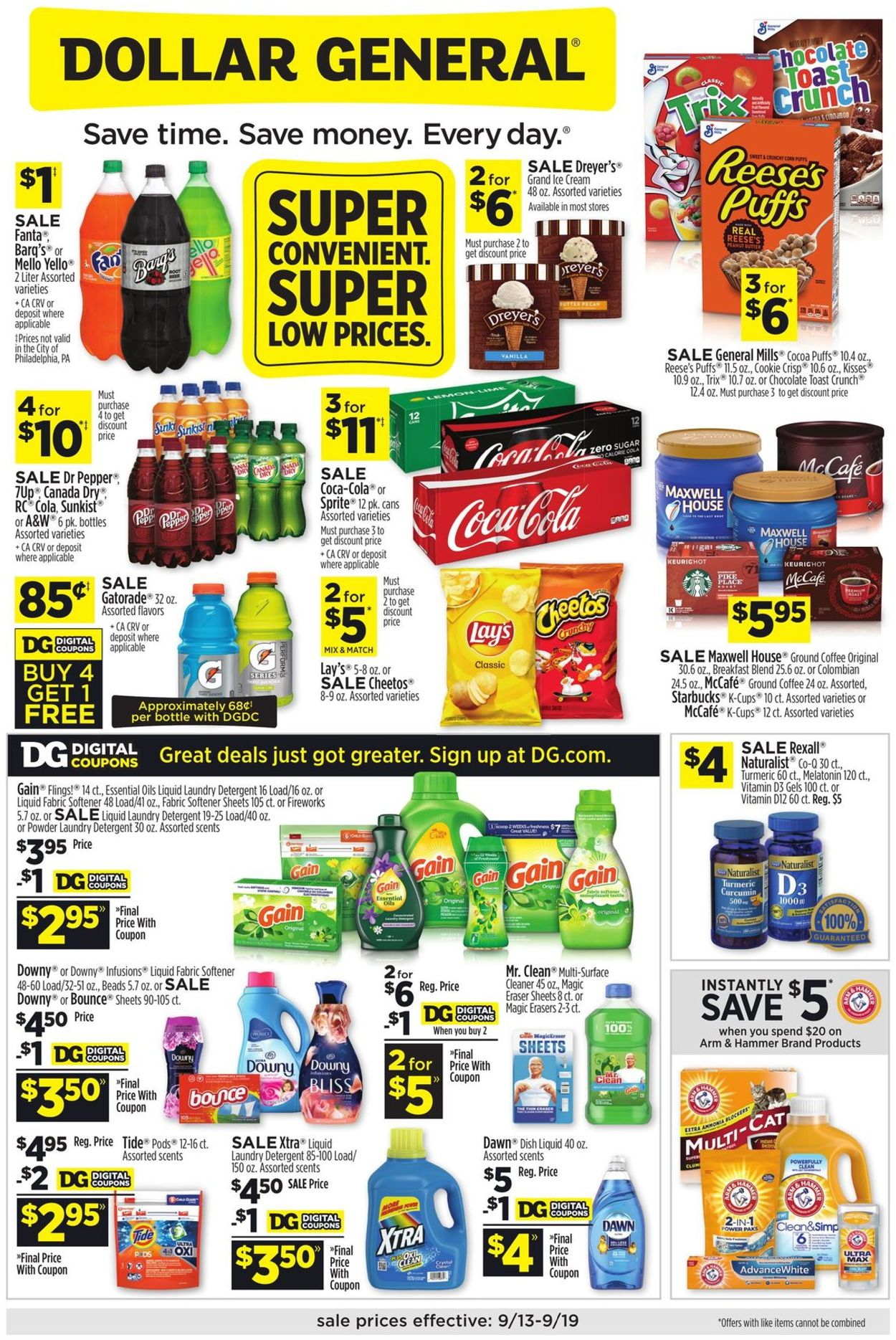 Dollar General Weekly Ad Circular - valid 09/13-09/19/2020