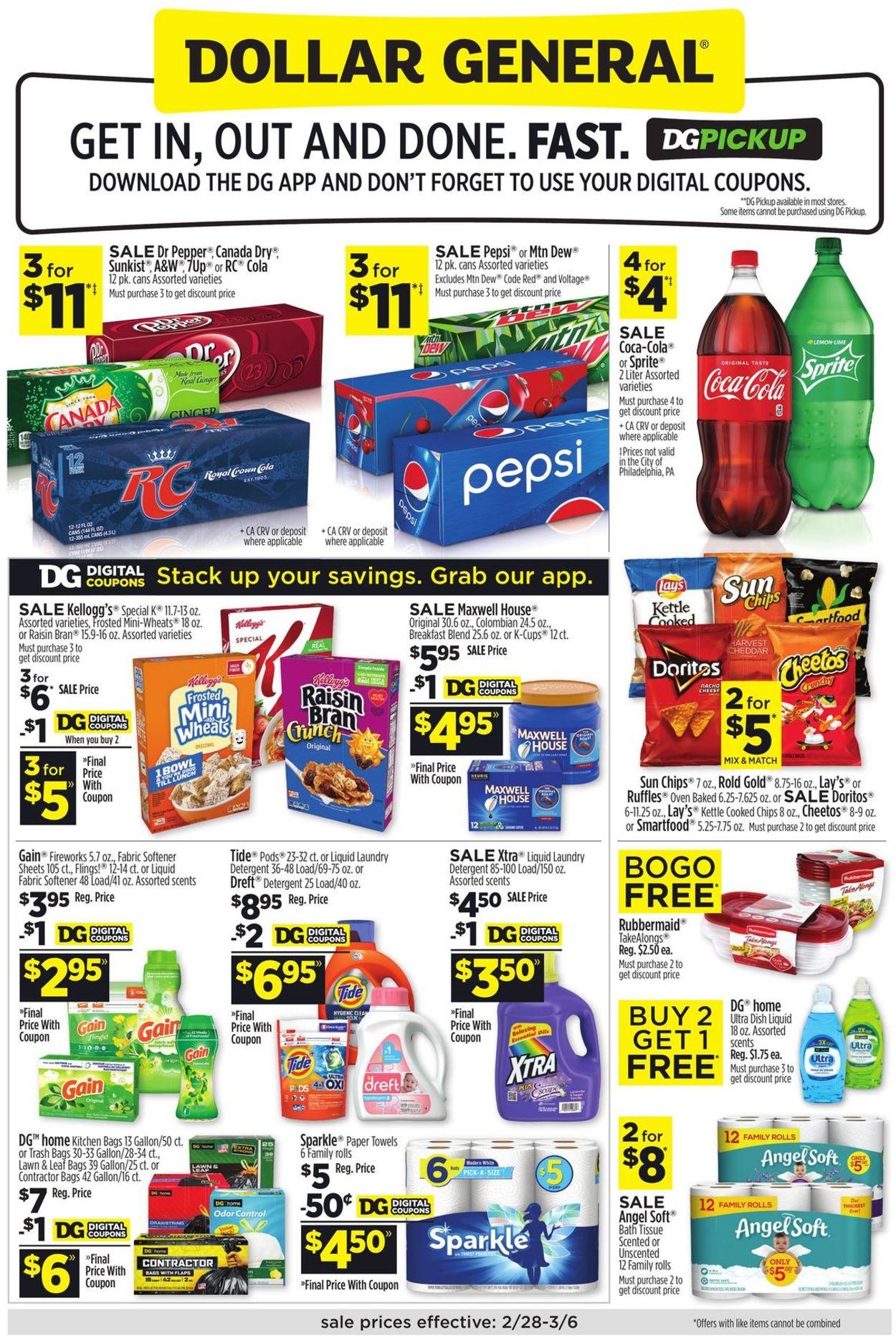 Dollar General Weekly Ad Circular - valid 02/28-03/06/2021