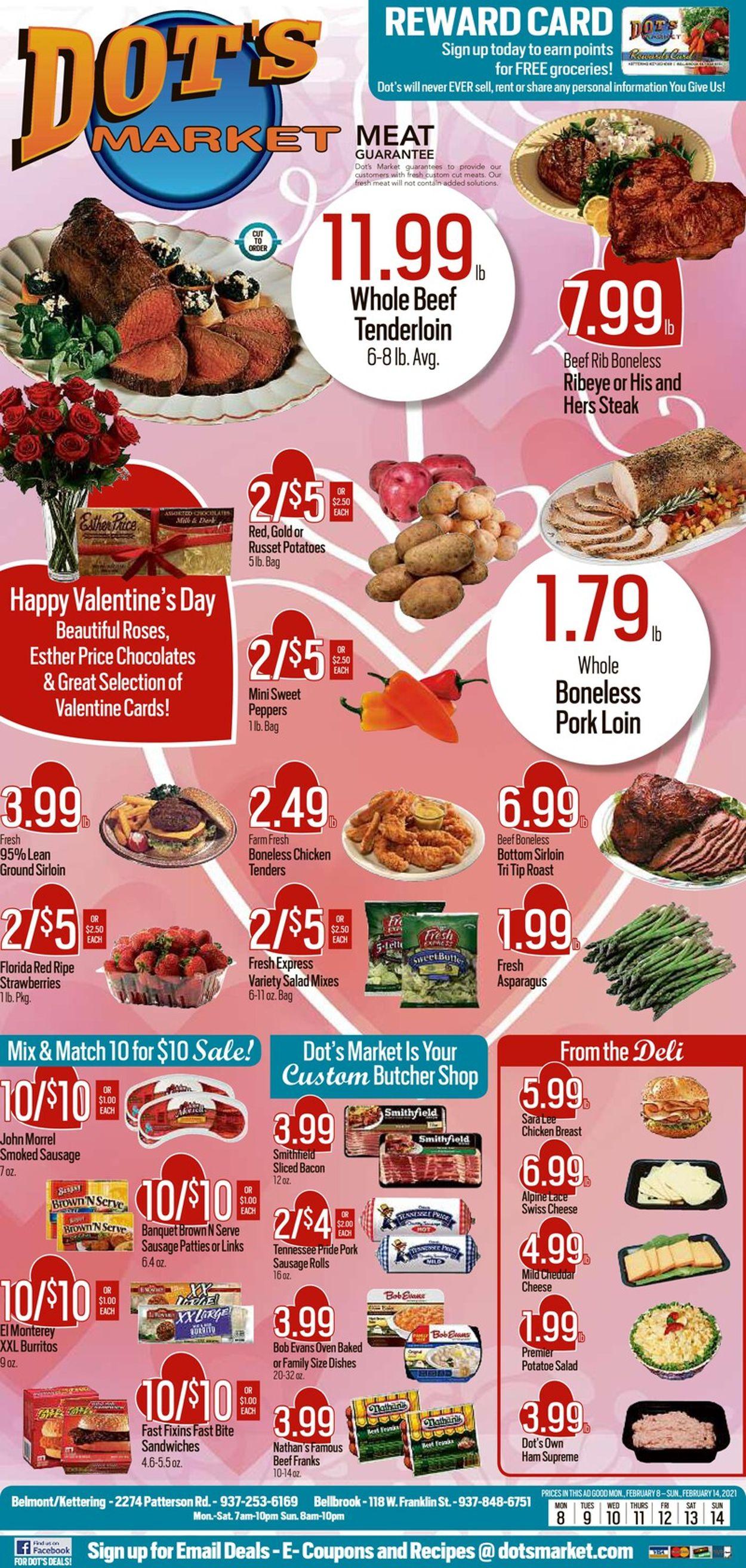 Dot's Market Weekly Ad Circular - valid 02/08-02/14/2021
