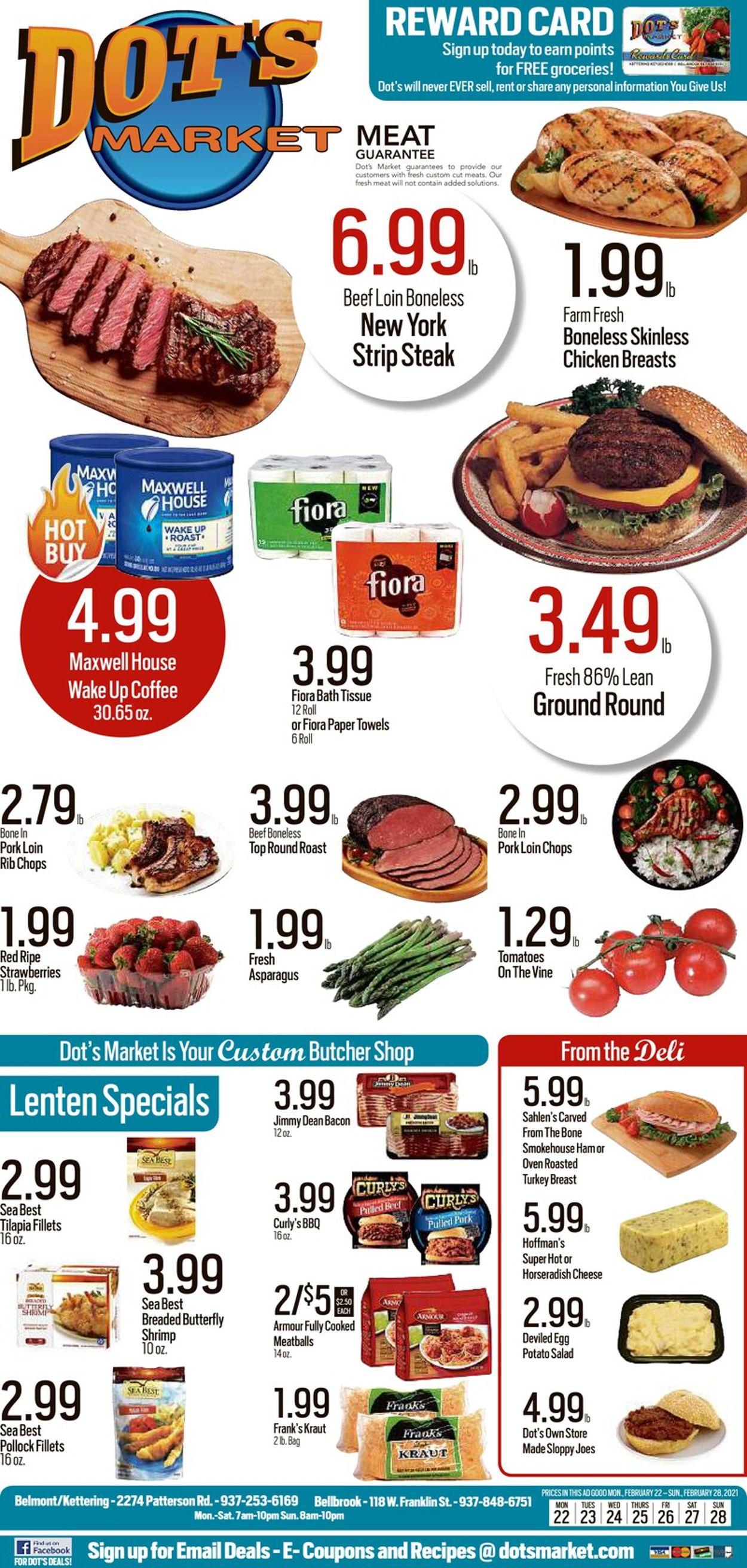 Dot's Market Weekly Ad Circular - valid 02/22-02/28/2021