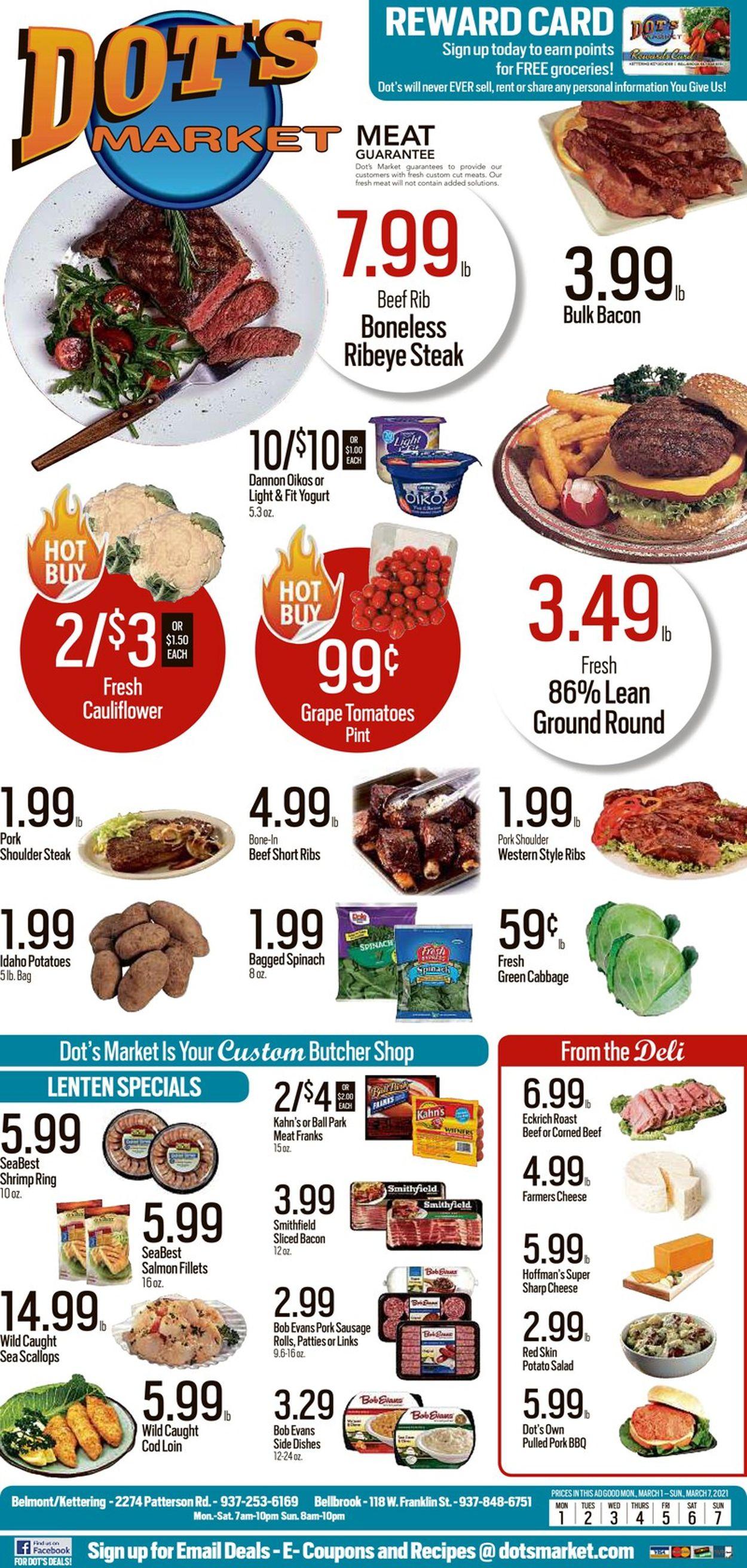 Dot's Market Weekly Ad Circular - valid 03/01-03/07/2021