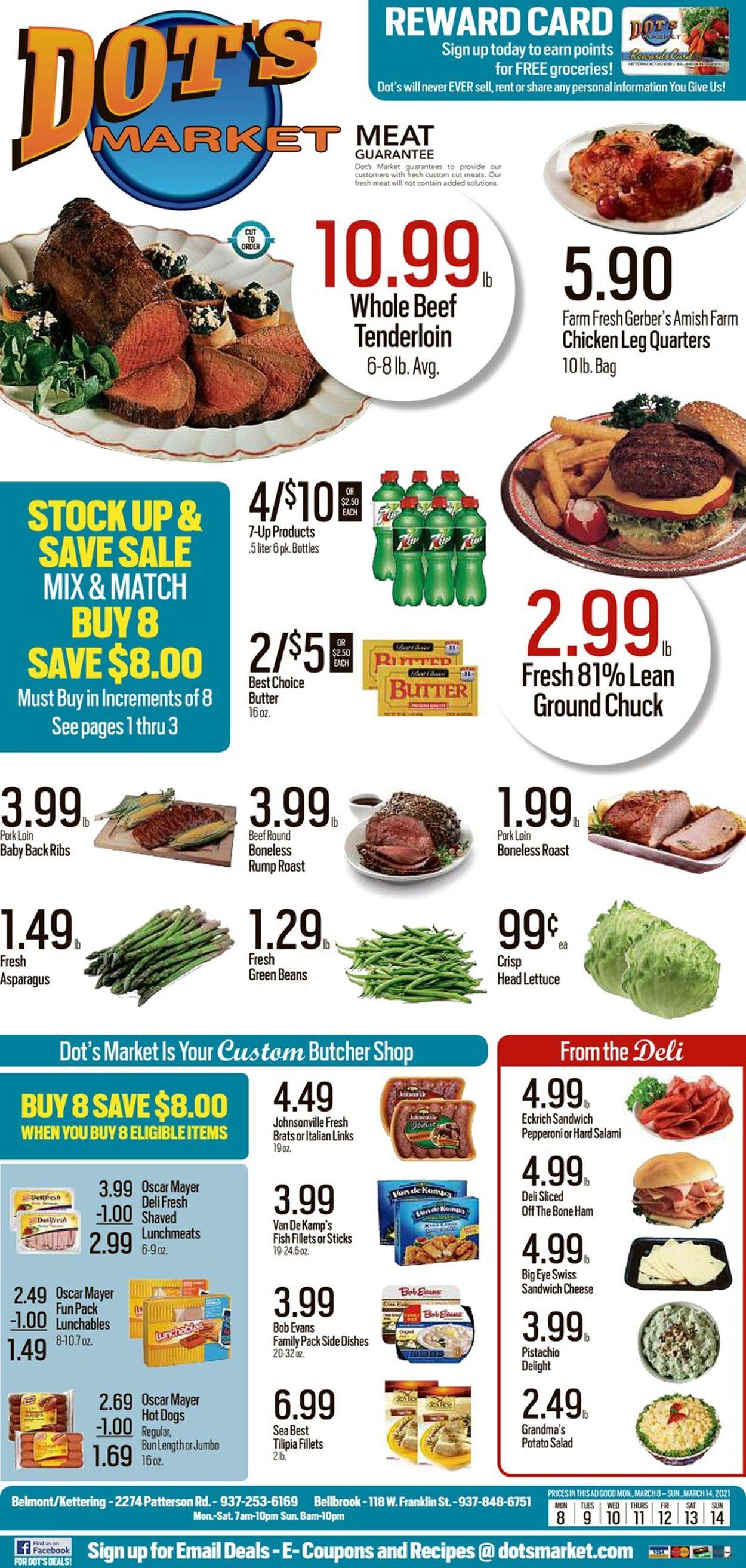 Dot's Market Weekly Ad Circular - valid 03/08-03/14/2021