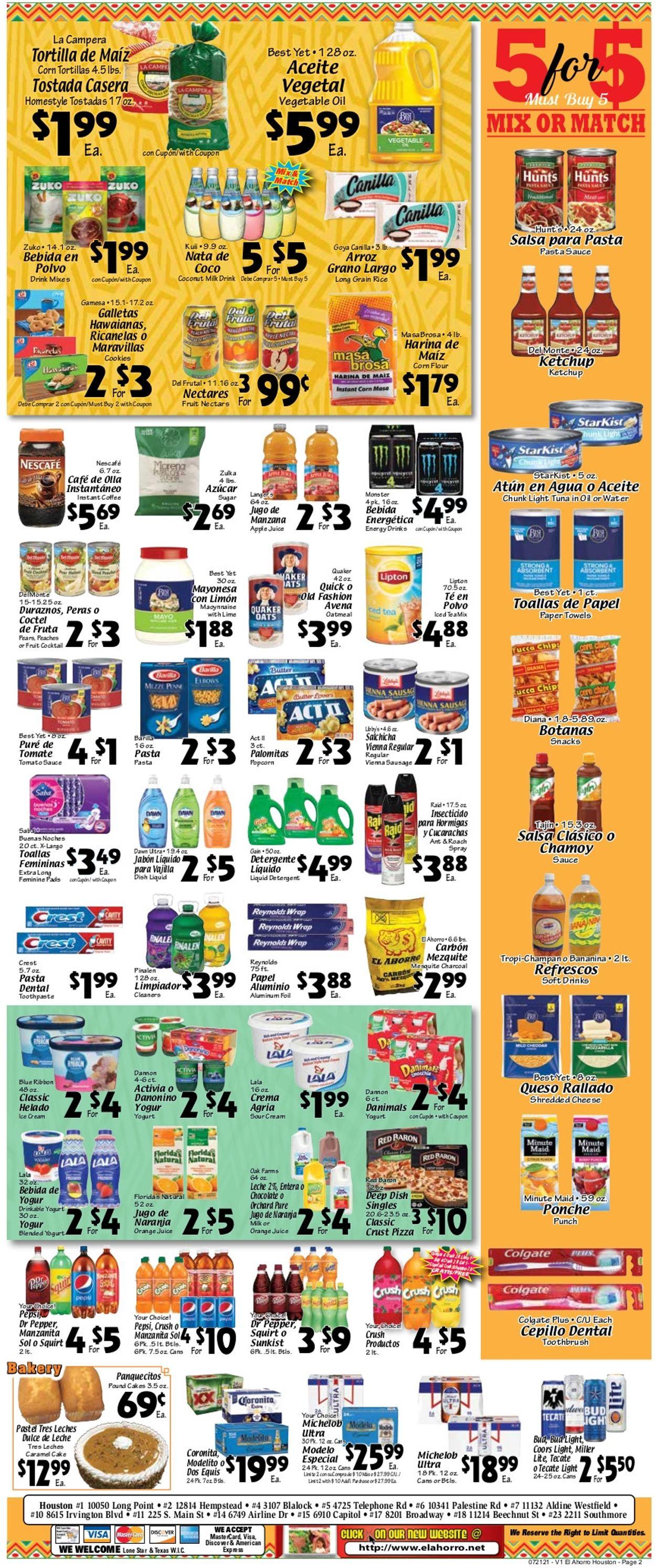El Ahorro Supermarket Weekly Ad Circular - valid 07/21-07/27/2021 (Page 2)