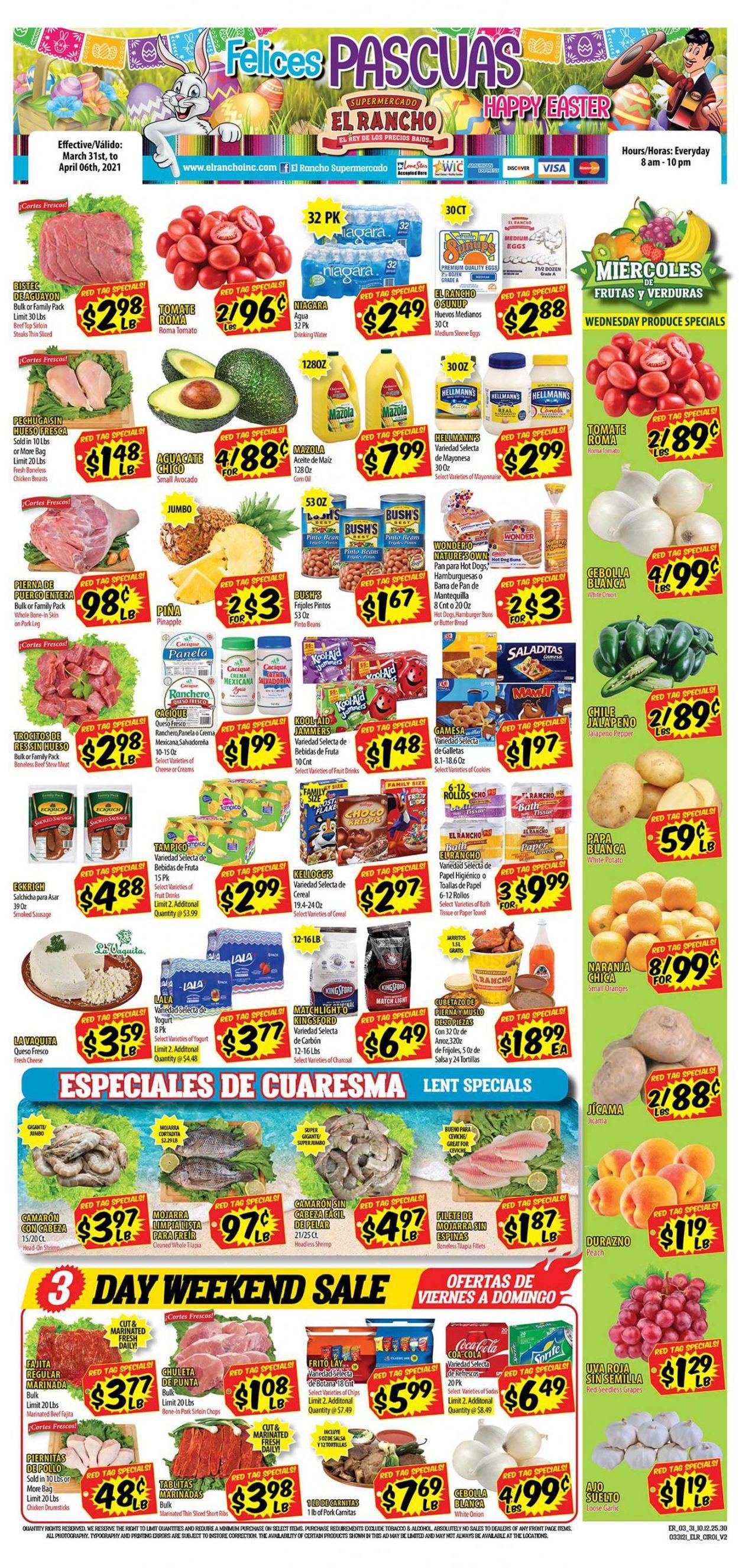 El Rancho Easter 2021 ad Weekly Ad Circular - valid 03/31-04/06/2021