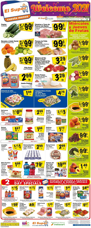 El Super Weekly Ad Circular - valid 01/13-01/19/2021