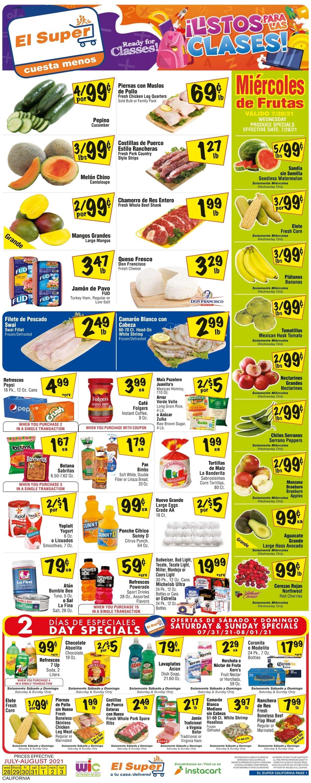 El Super Weekly Ad Circular - valid 07/28-08/03/2021