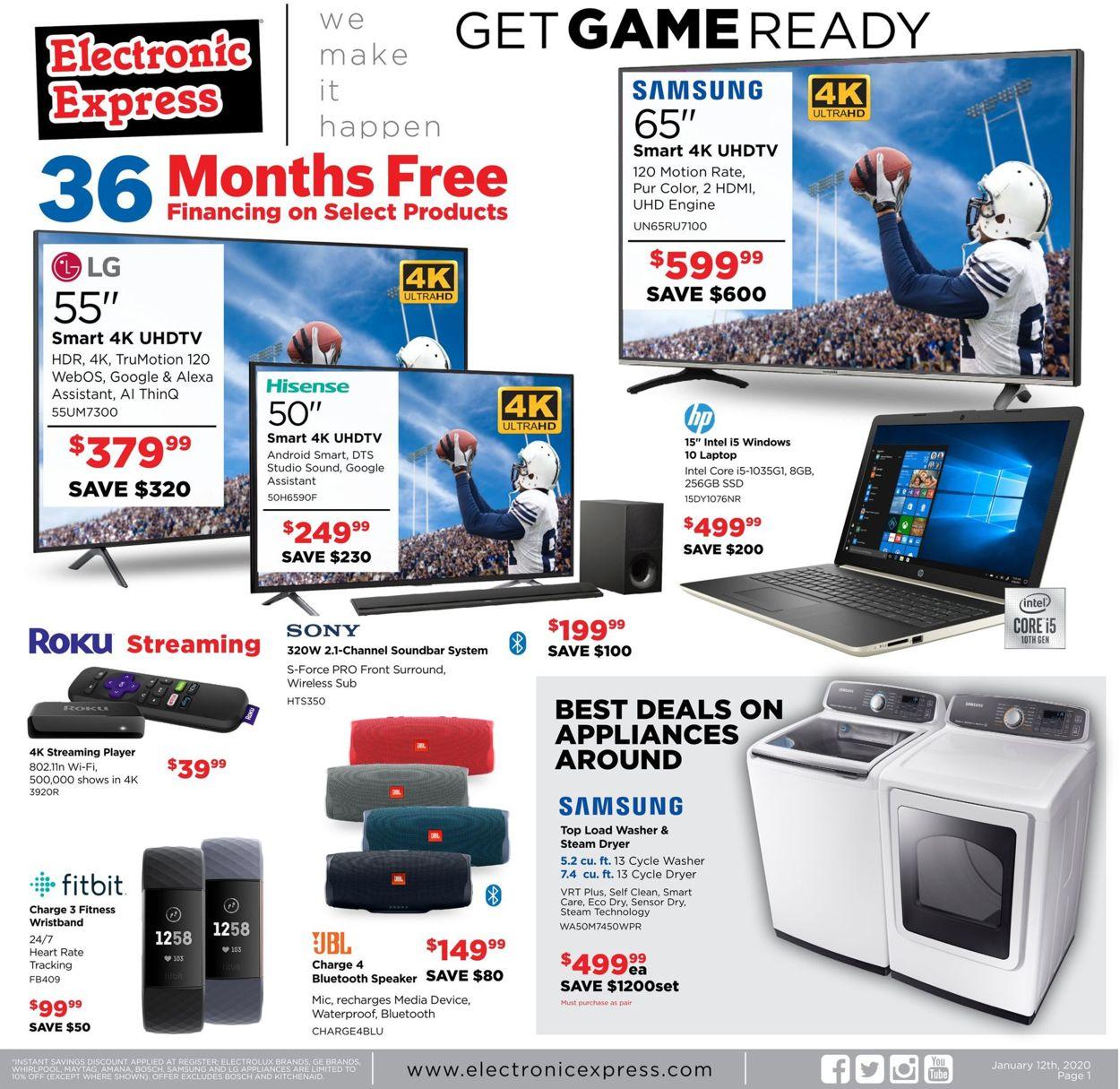 Electronic Express Weekly Ad Circular - valid 01/12-01/18/2020