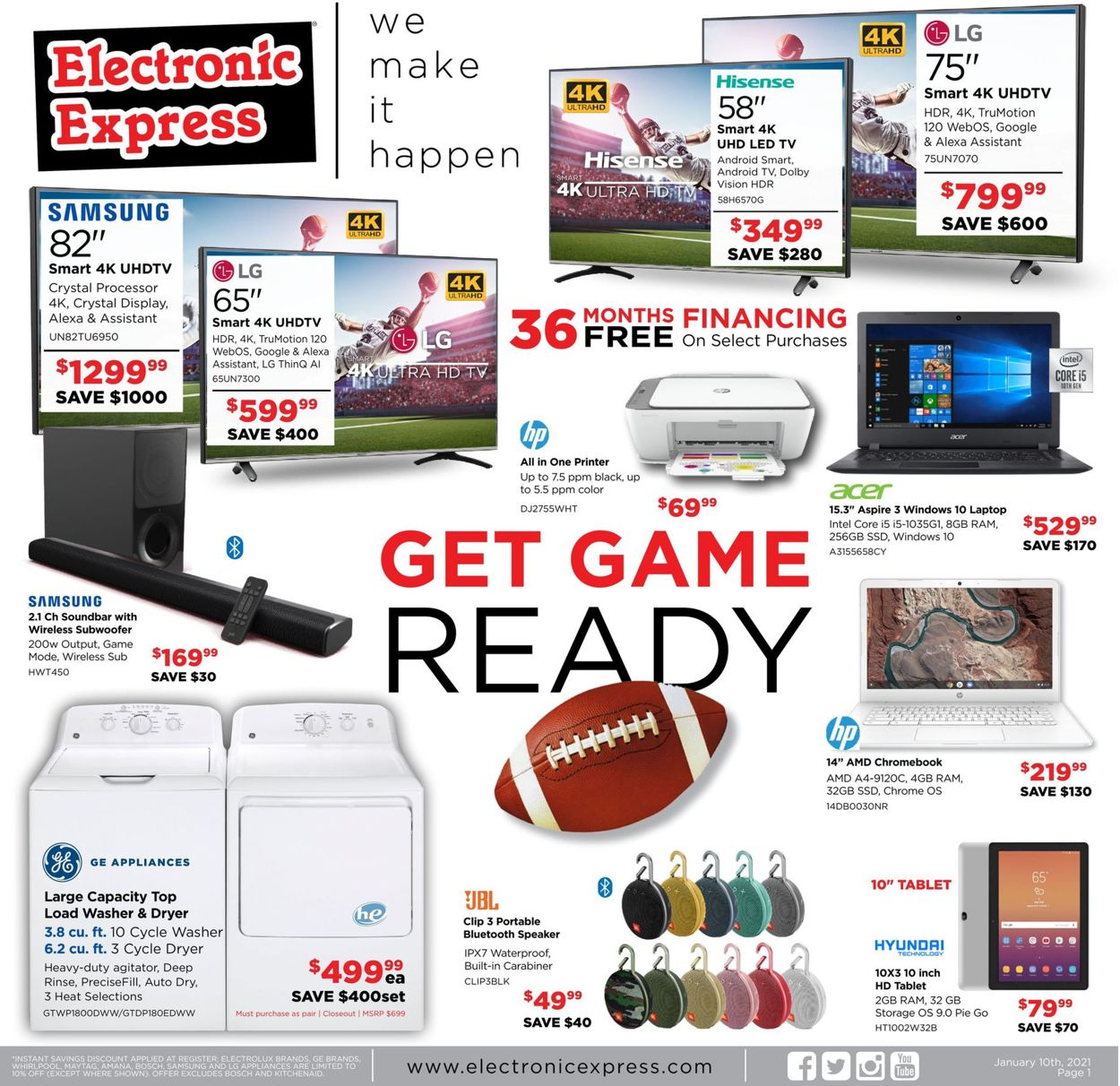 Electronic Express Weekly Ad Circular - valid 01/10-01/16/2021