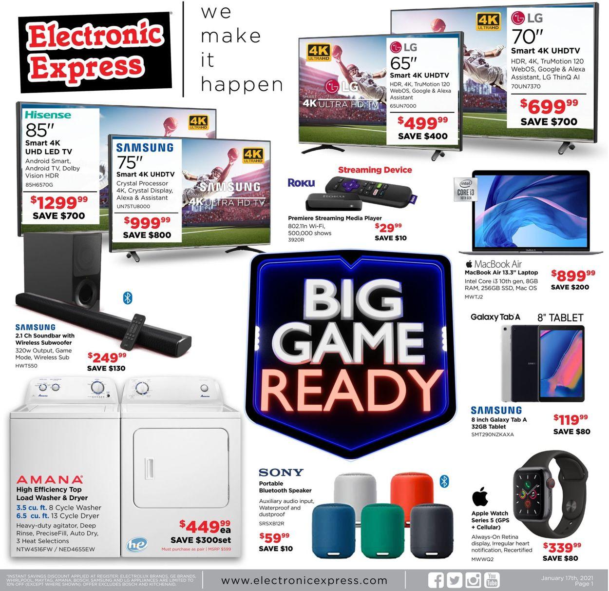 Electronic Express Weekly Ad Circular - valid 01/17-01/23/2021