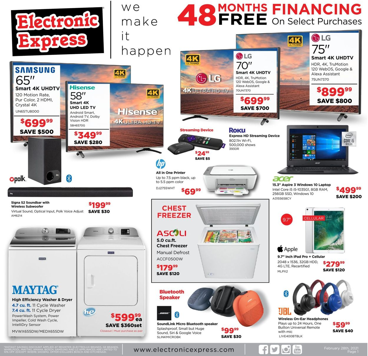 Electronic Express Weekly Ad Circular - valid 02/28-03/06/2021