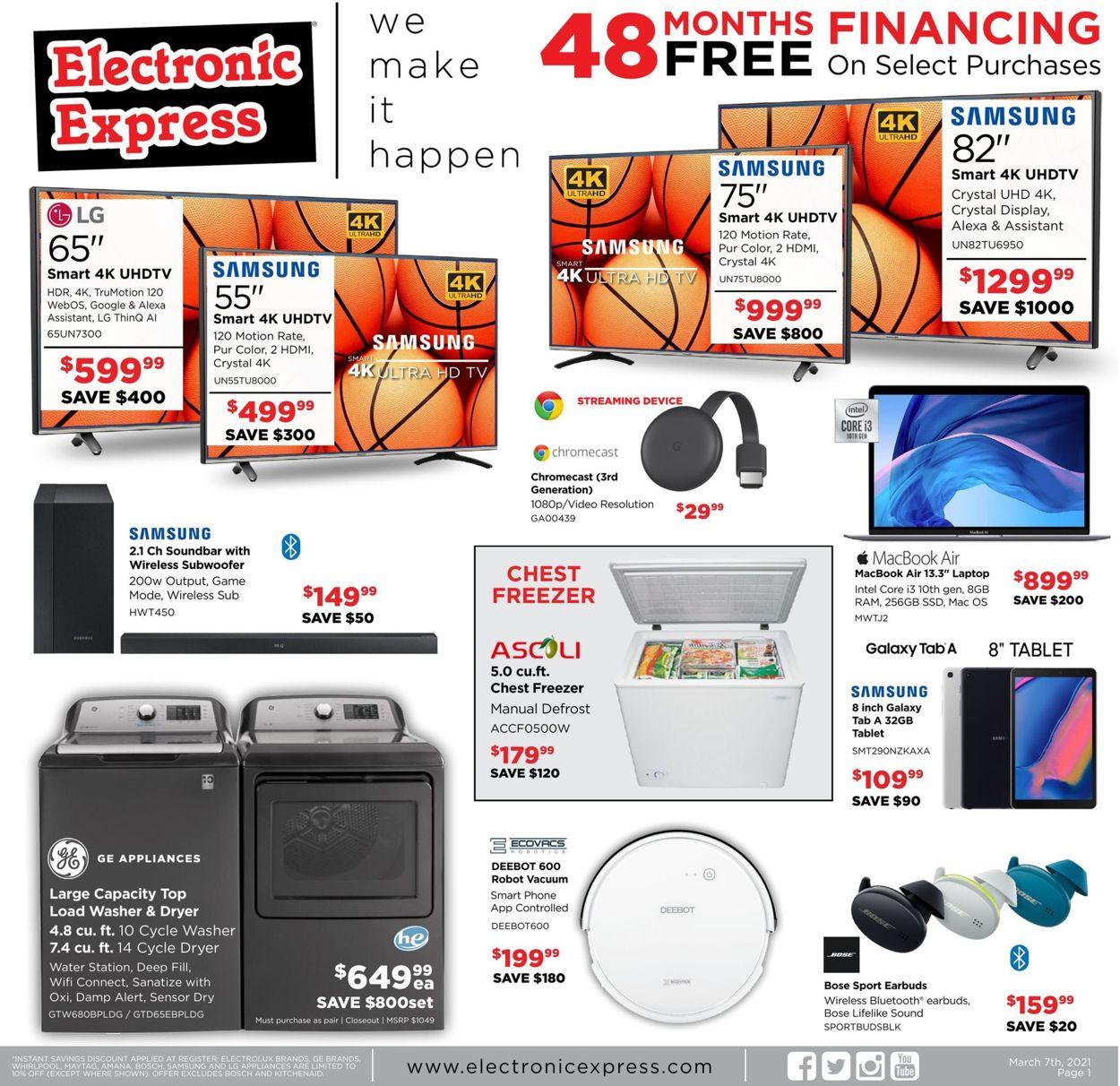 Electronic Express Weekly Ad Circular - valid 03/07-03/13/2021