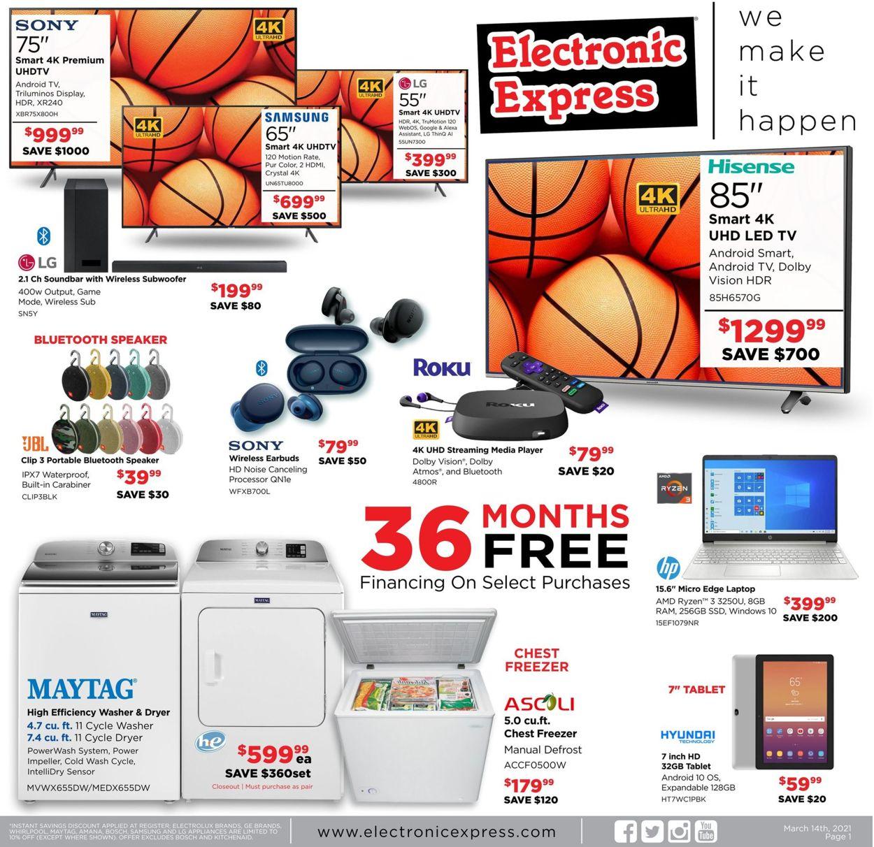 Electronic Express Weekly Ad Circular - valid 03/14-03/20/2021