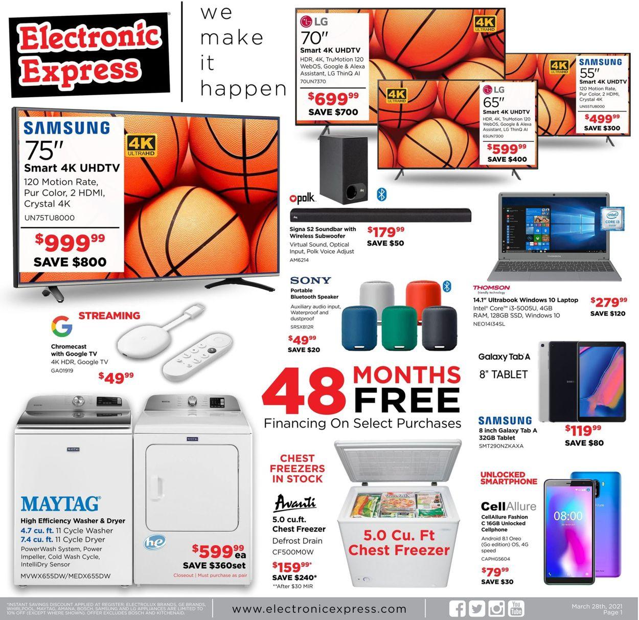 Electronic Express Weekly Ad Circular - valid 03/28-04/03/2021
