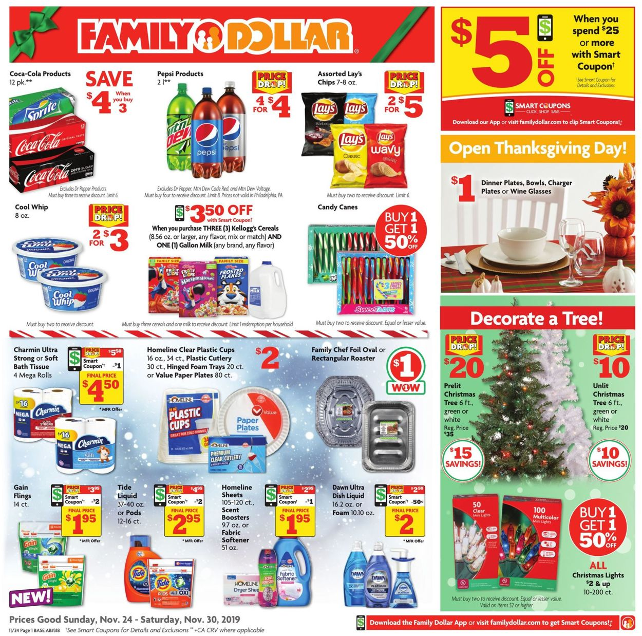 Family Dollar Ad Circular - 11/24 - 11/30/2019   Rabato