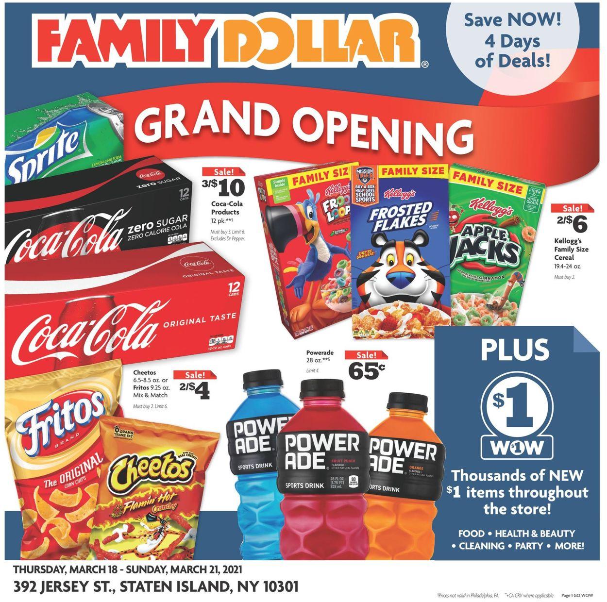 Family Dollar Weekly Ad Circular - valid 03/18-03/21/2021