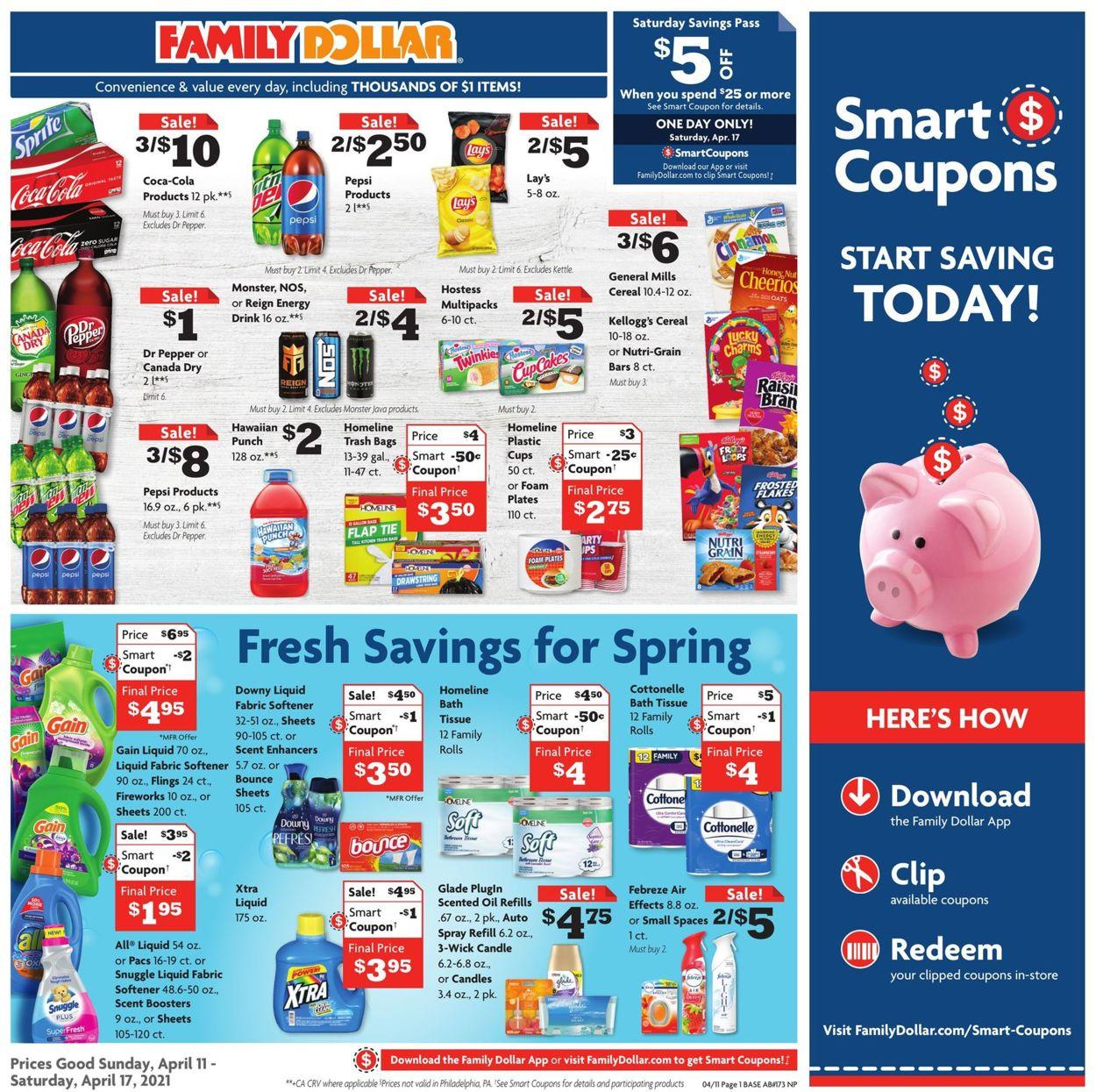 Family Dollar Weekly Ad Circular - valid 04/11-04/17/2021