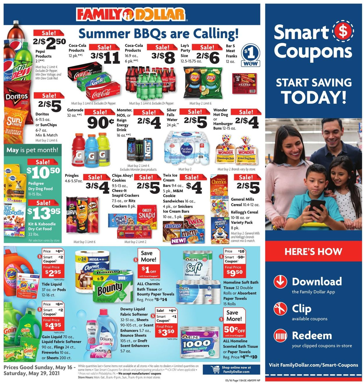 Family Dollar Weekly Ad Circular - valid 05/16-05/29/2021
