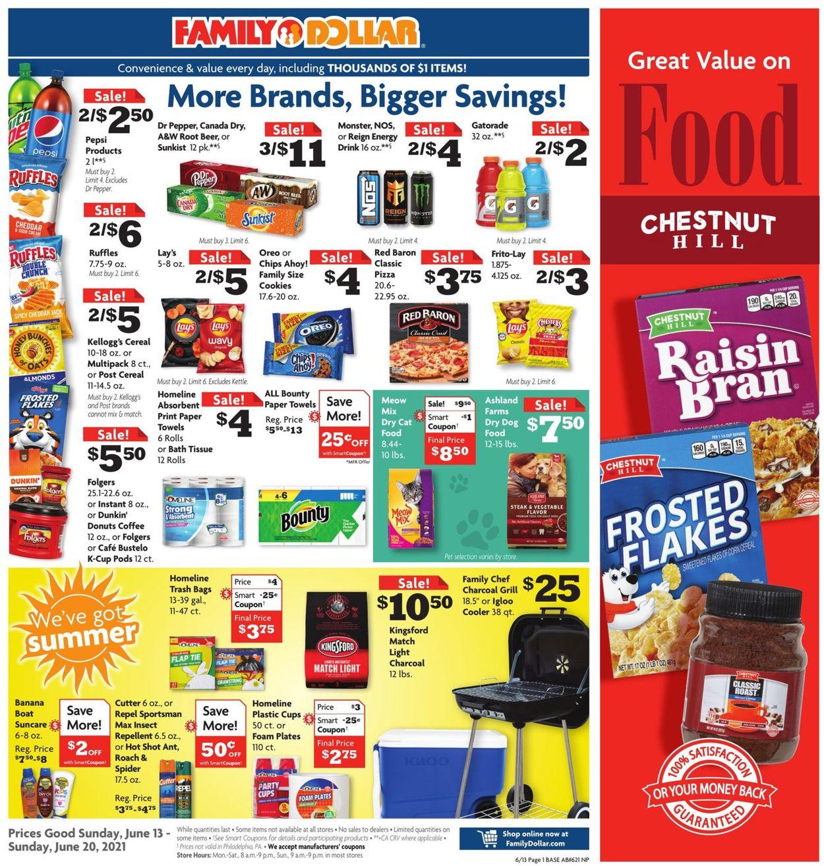 Family Dollar Weekly Ad Circular - valid 06/13-06/20/2021