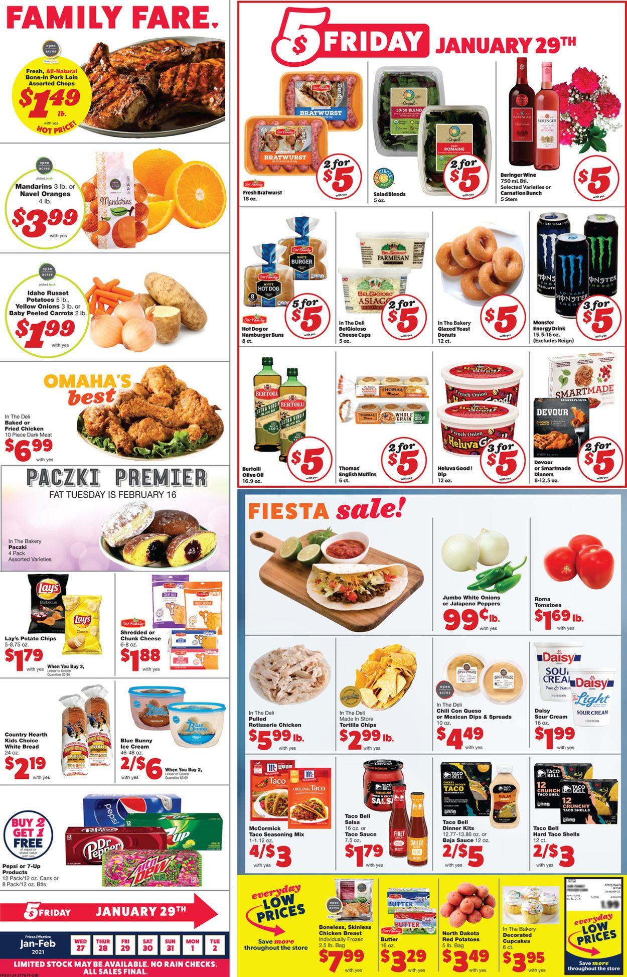 Family Fare Weekly Ad Circular - valid 01/27-02/02/2021