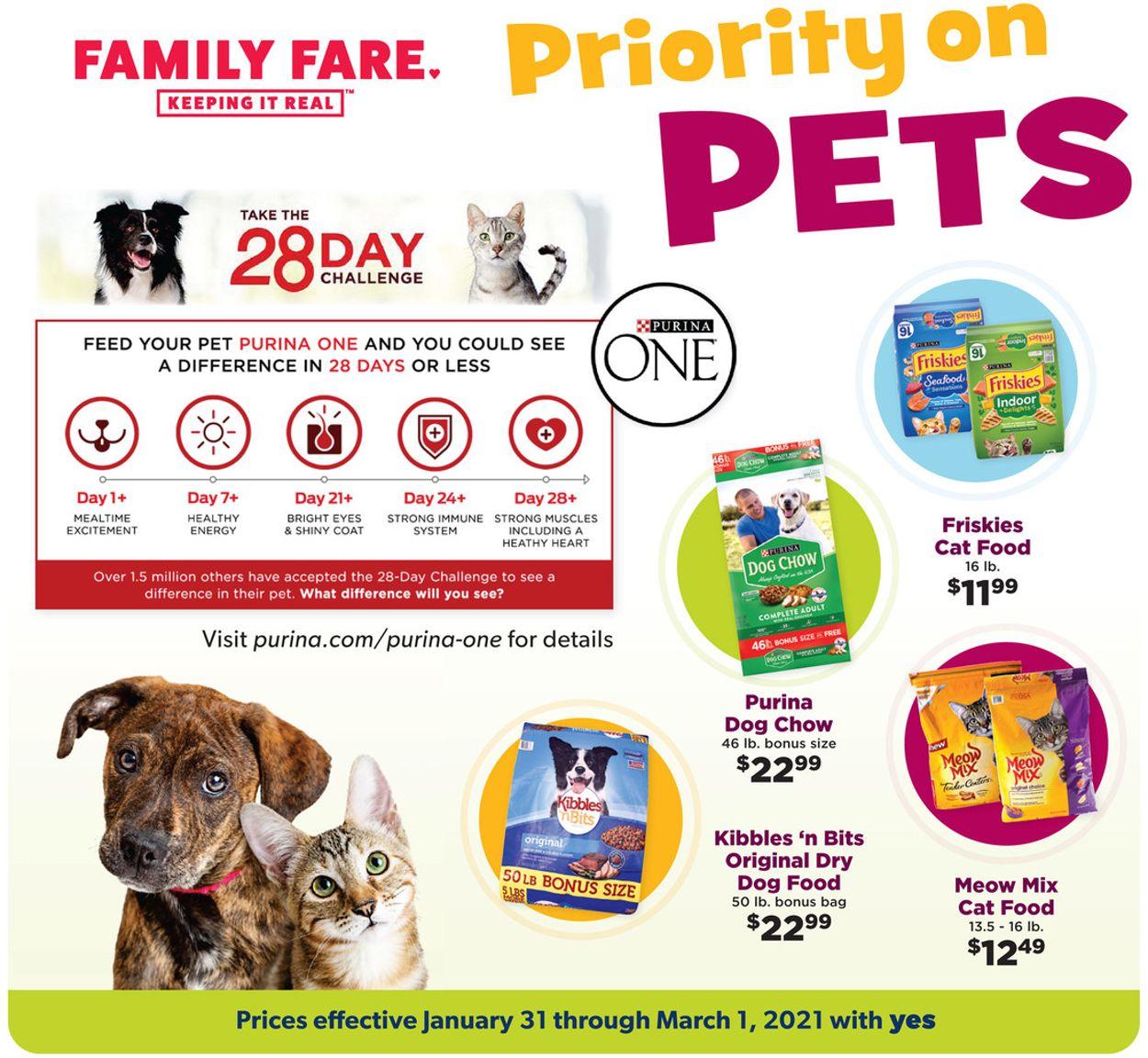 Family Fare Pets 2021 Weekly Ad Circular - valid 01/31-03/01/2021