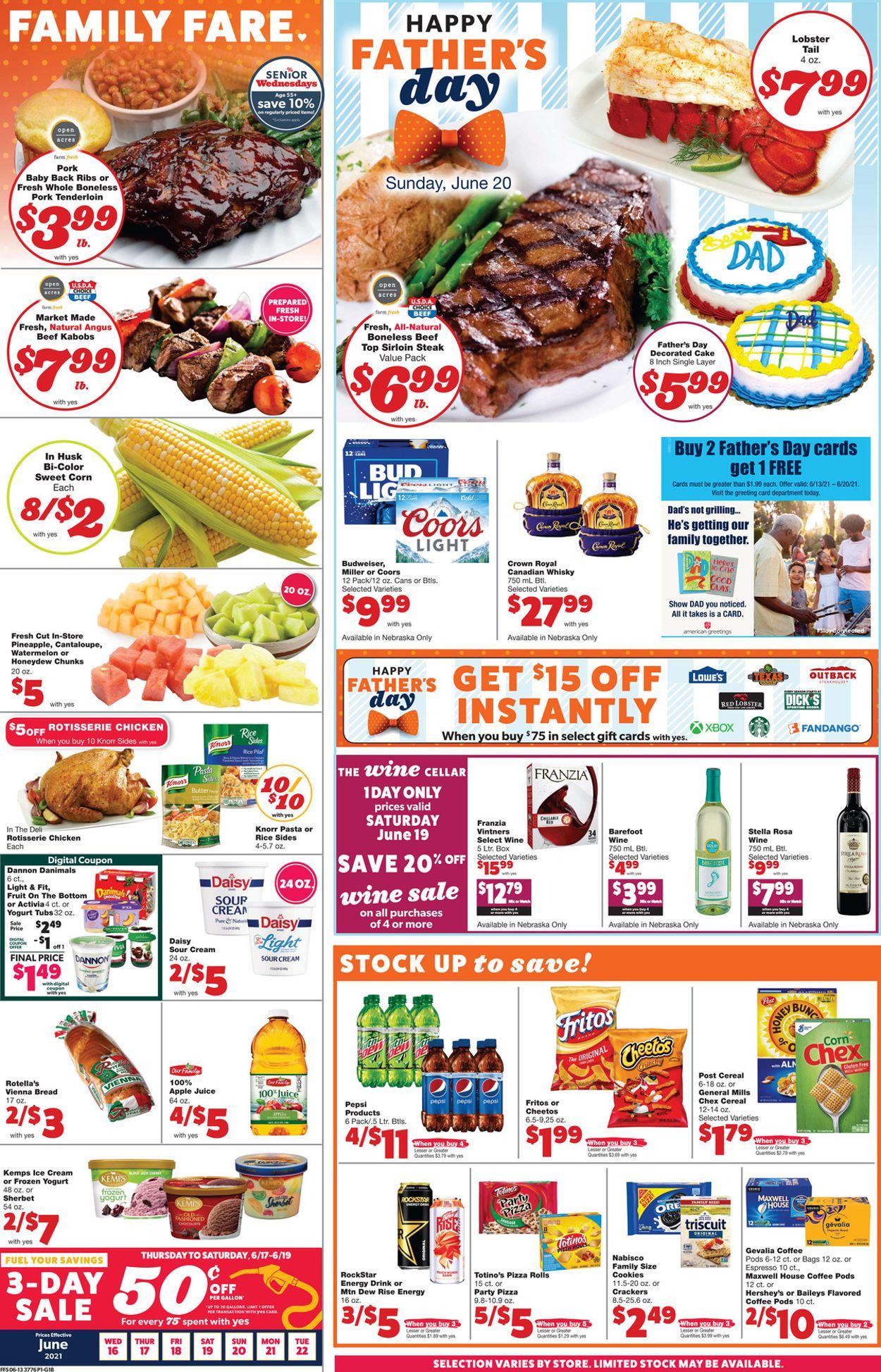 Family Fare Weekly Ad Circular - valid 06/16-06/22/2021